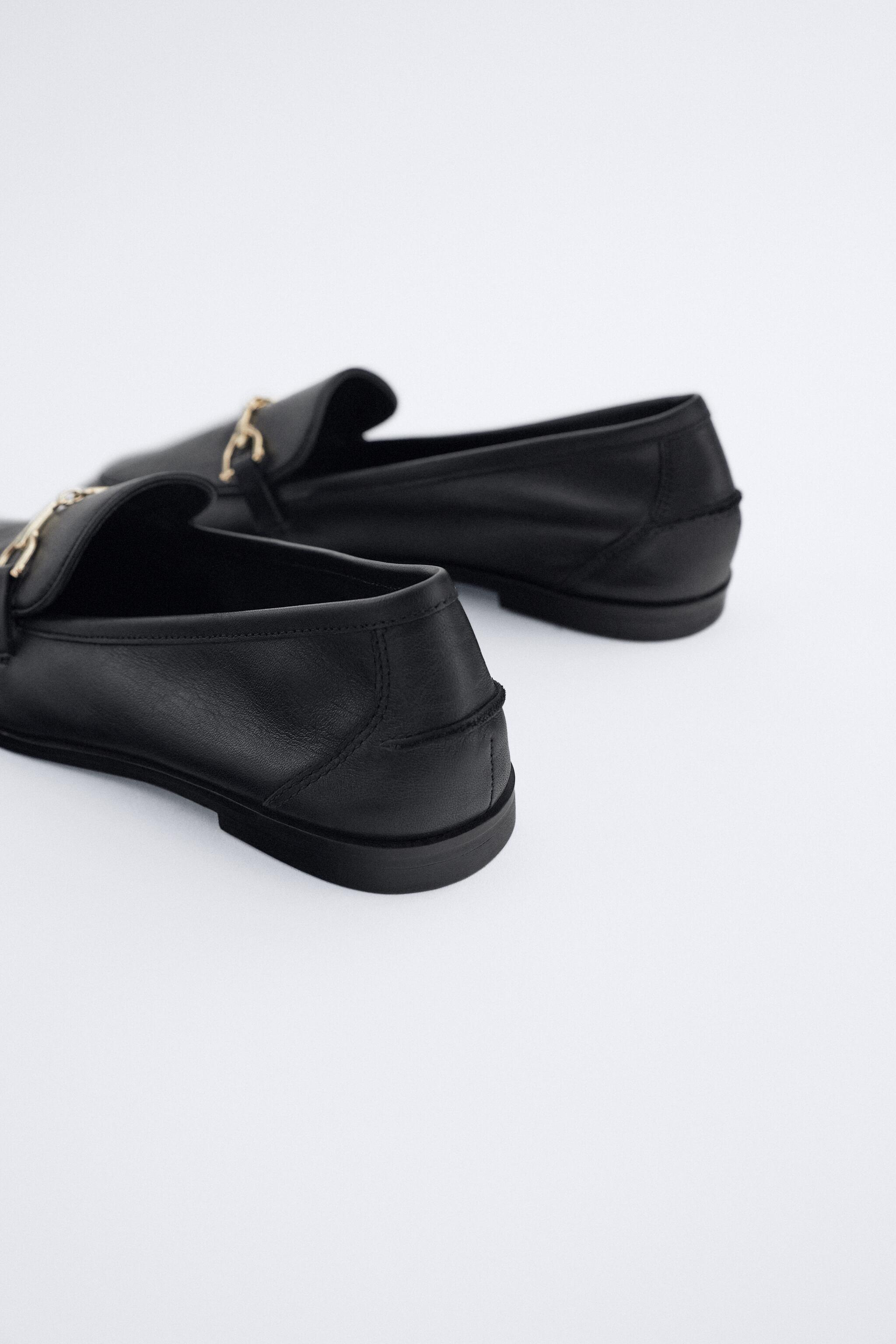 BUCKLED LEATHER LOAFERS 4