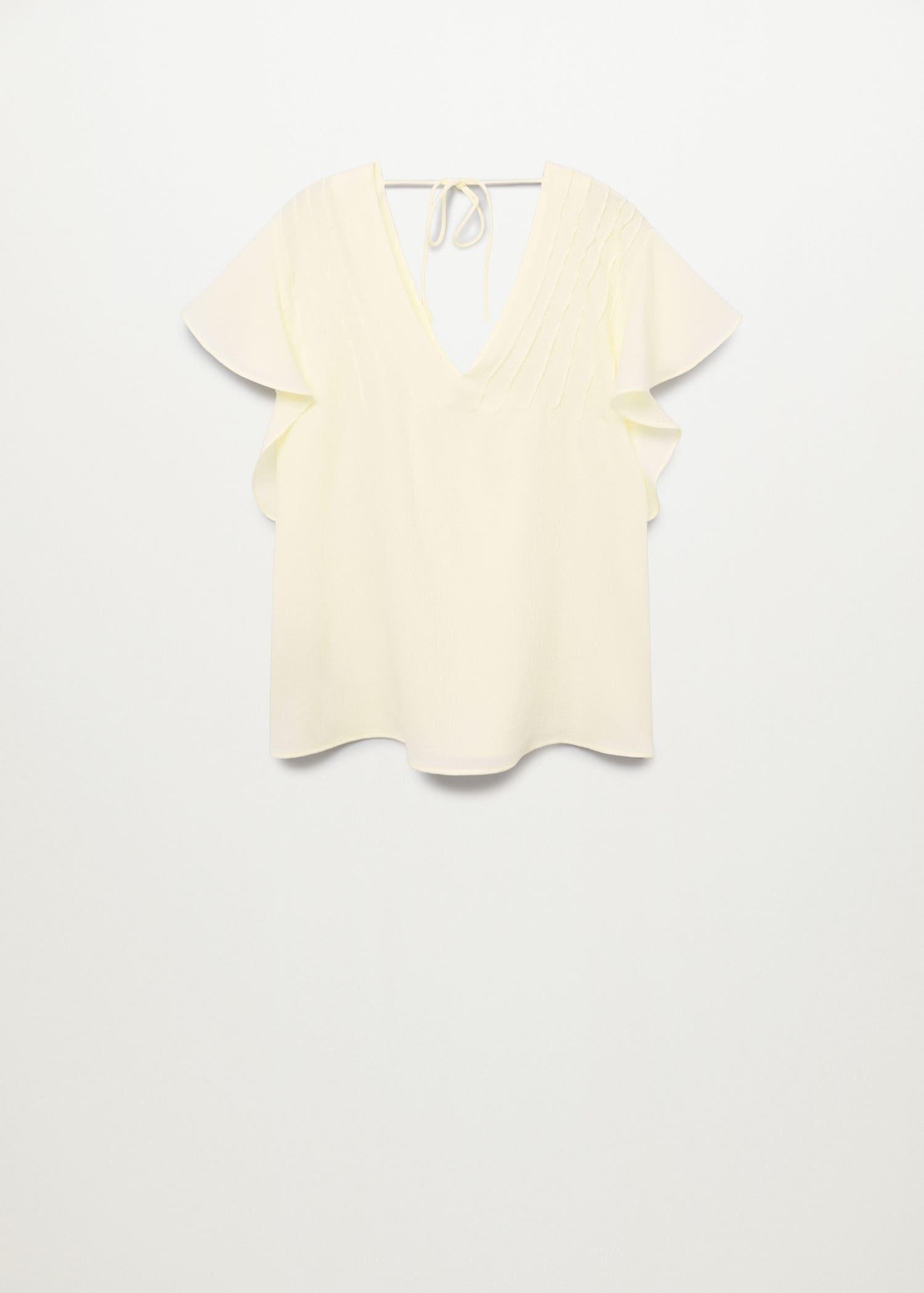 Bow textured blouse 6