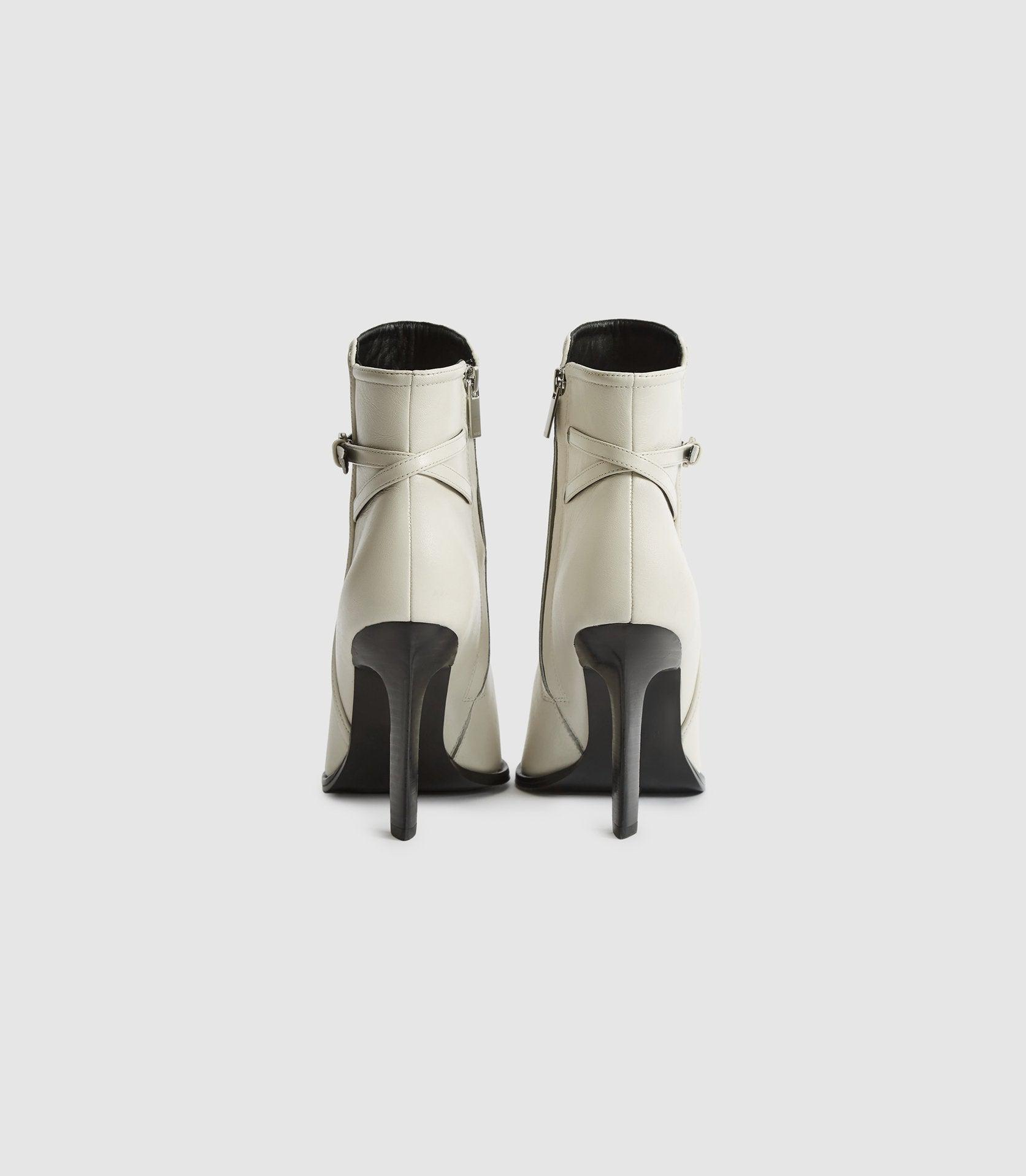 ADA ANKLE - LEATHER POINT-TOE ANKLE BOOTS 3