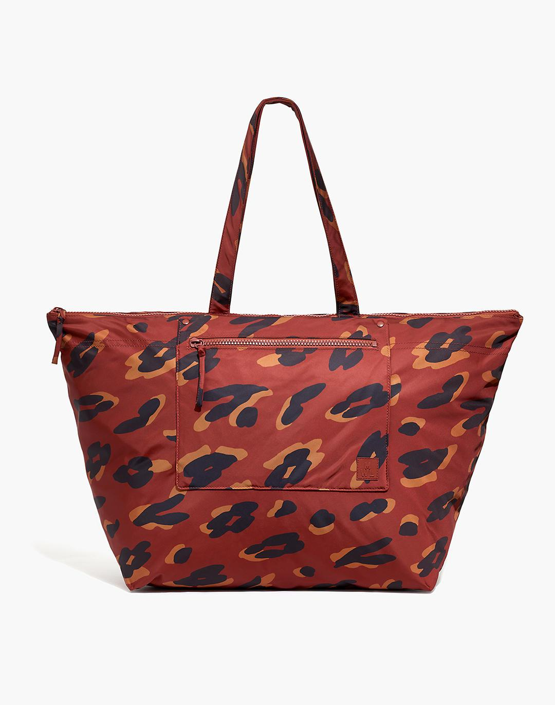 The (Re)sourced Weekender Bag in Painted Leopard