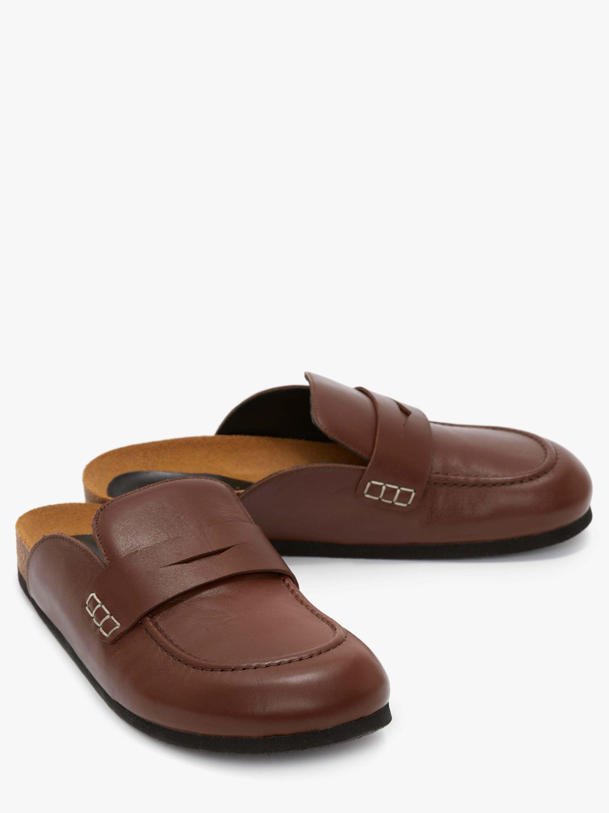 MEN'S LEATHER LOAFER MULES 1