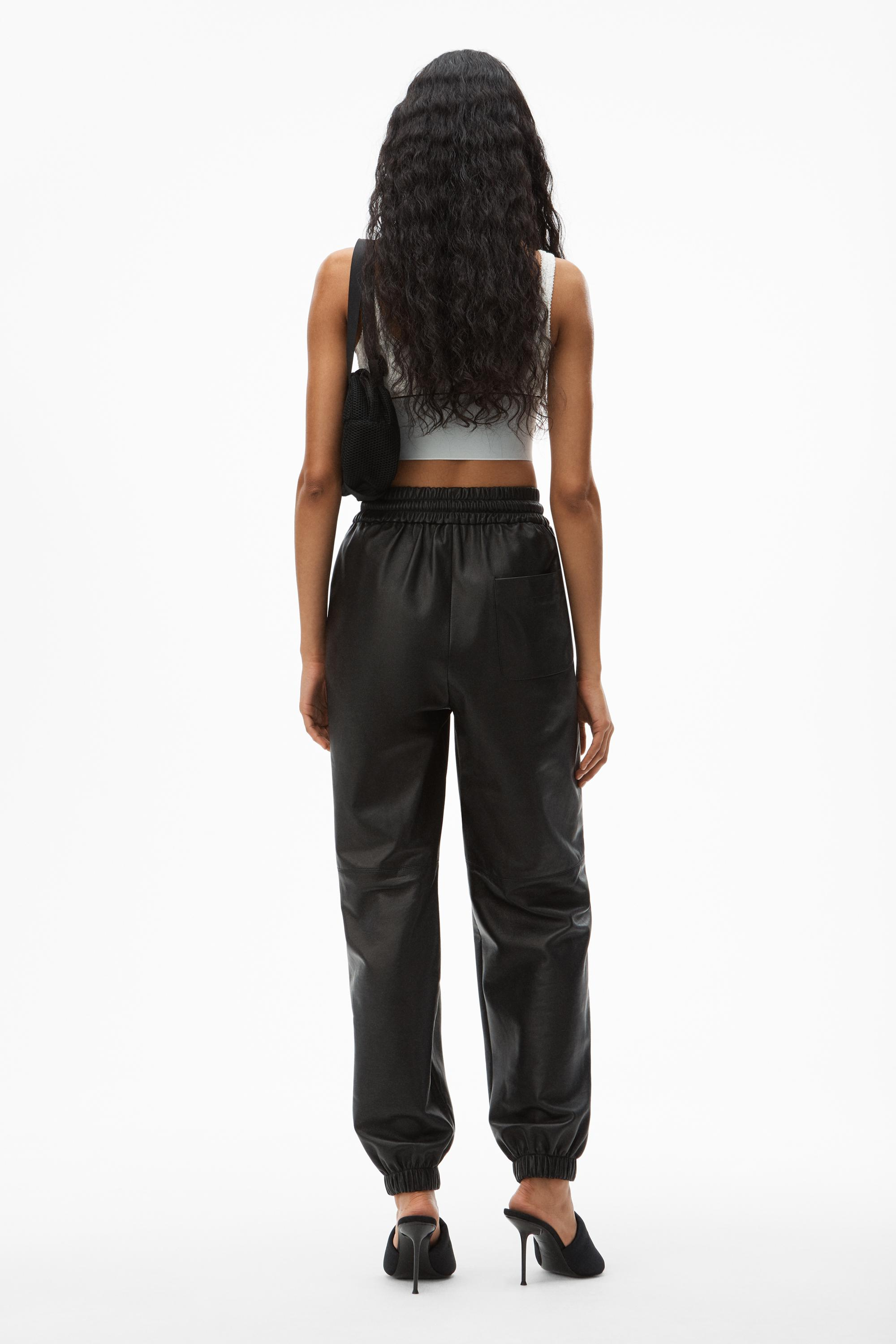dipped leather jogger 3