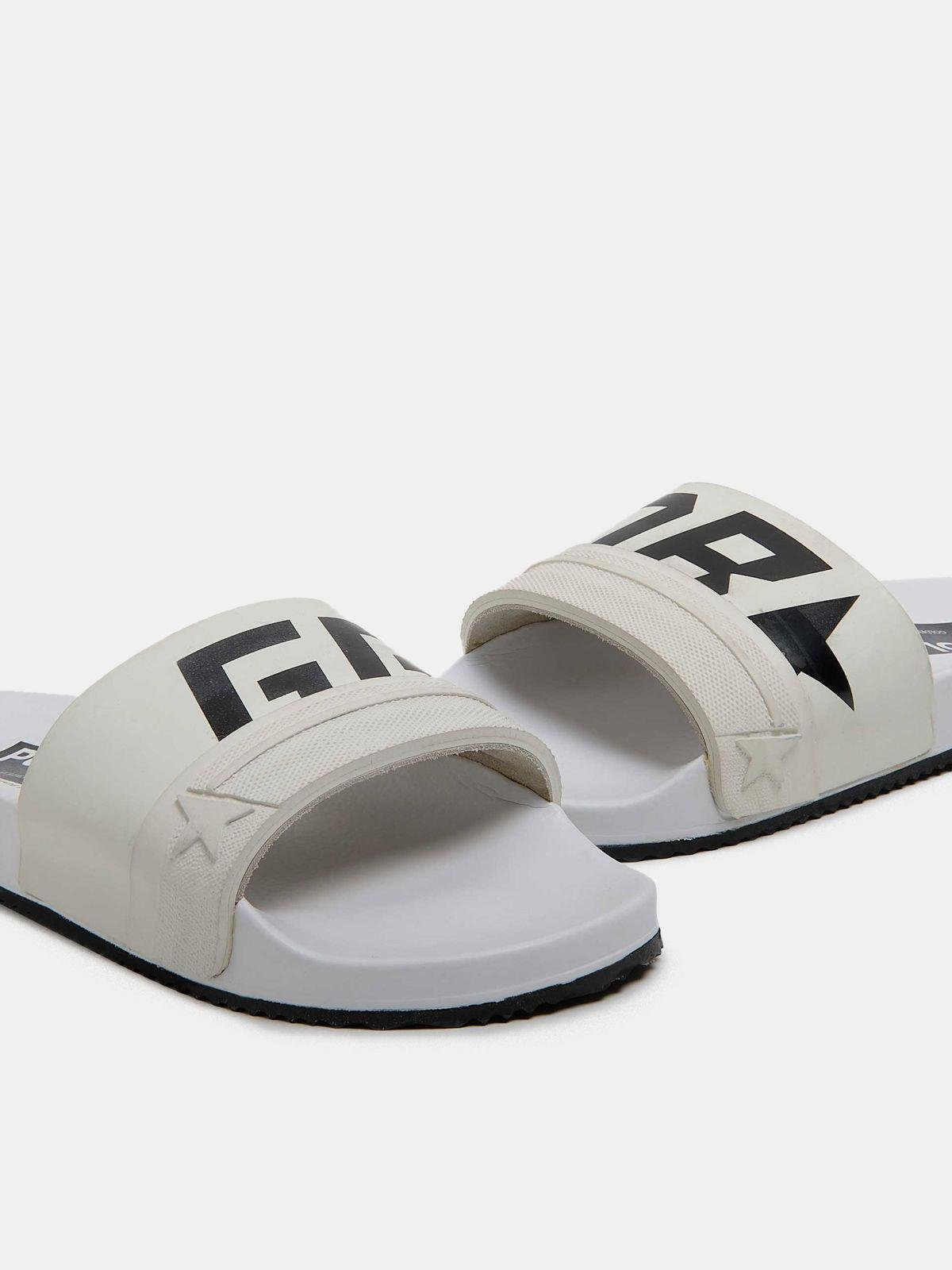 White Poolstars for women with GGDB logo 3