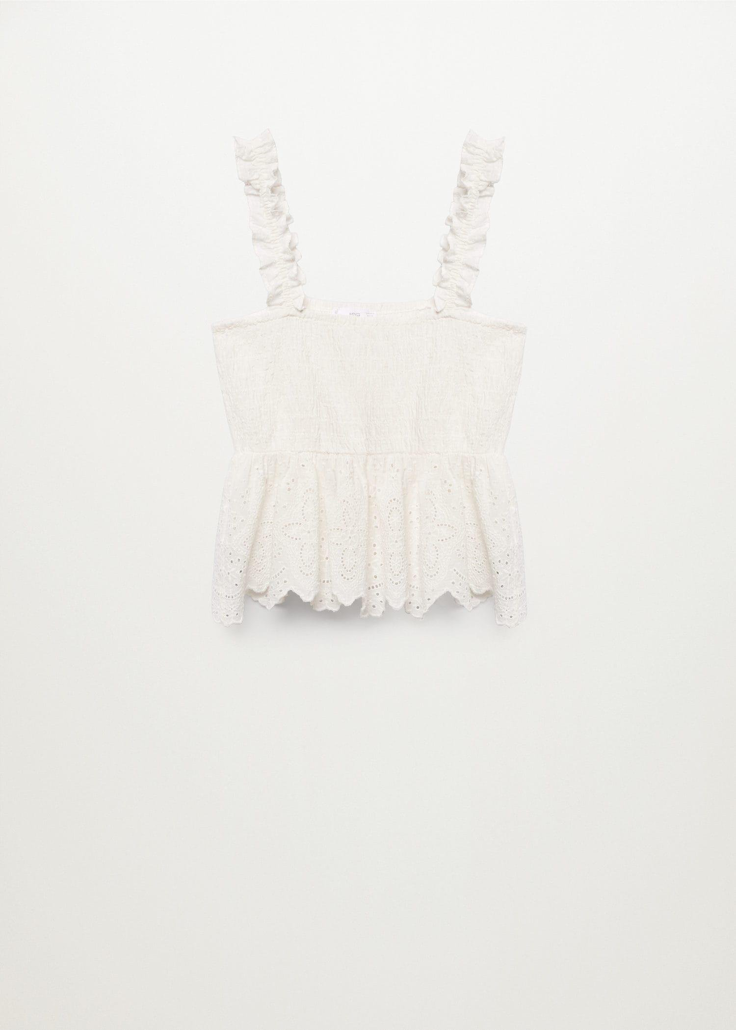 Broderie anglaise panel top 6