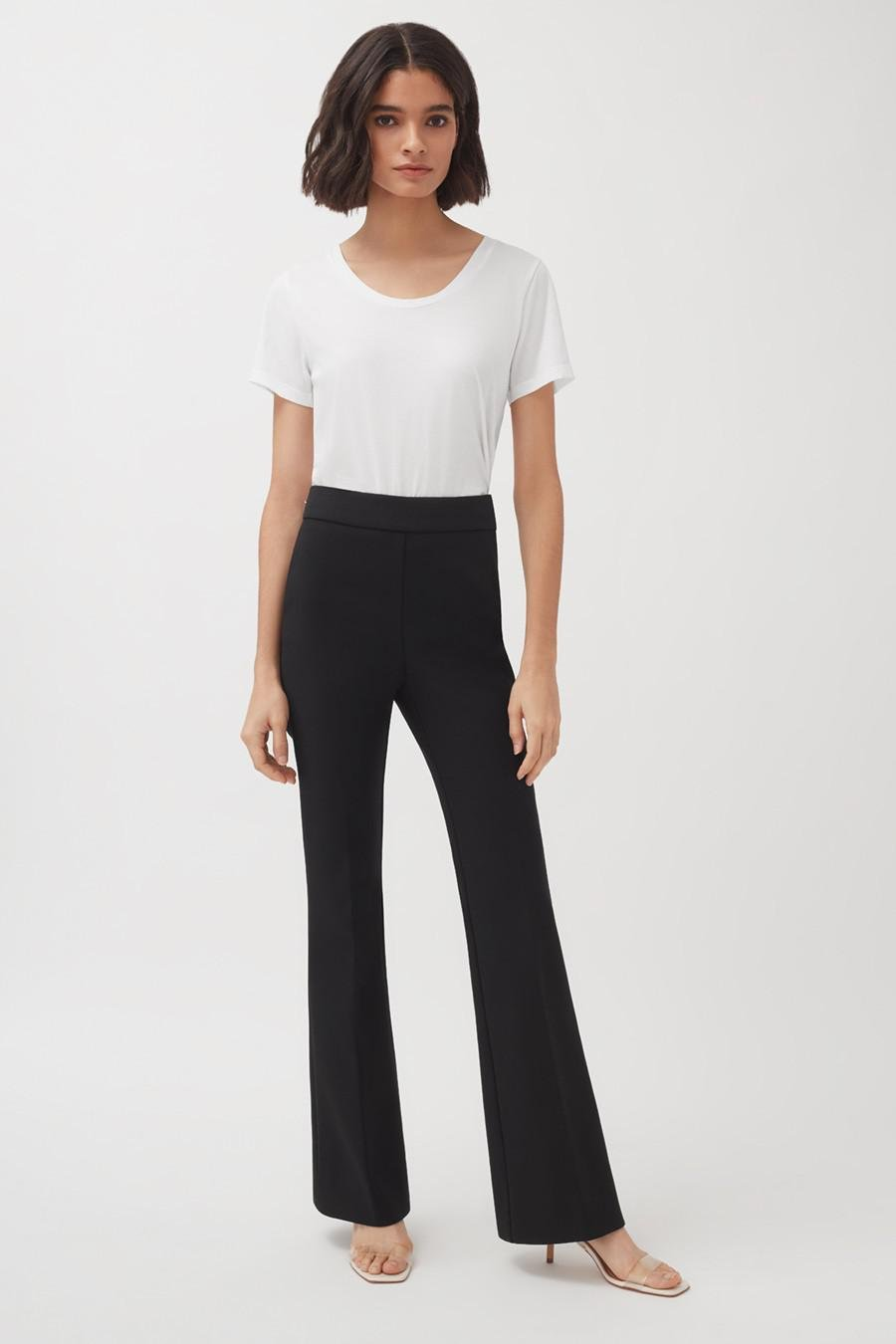 Women's Cotton Twill Flared Pant in Black | Size: 1