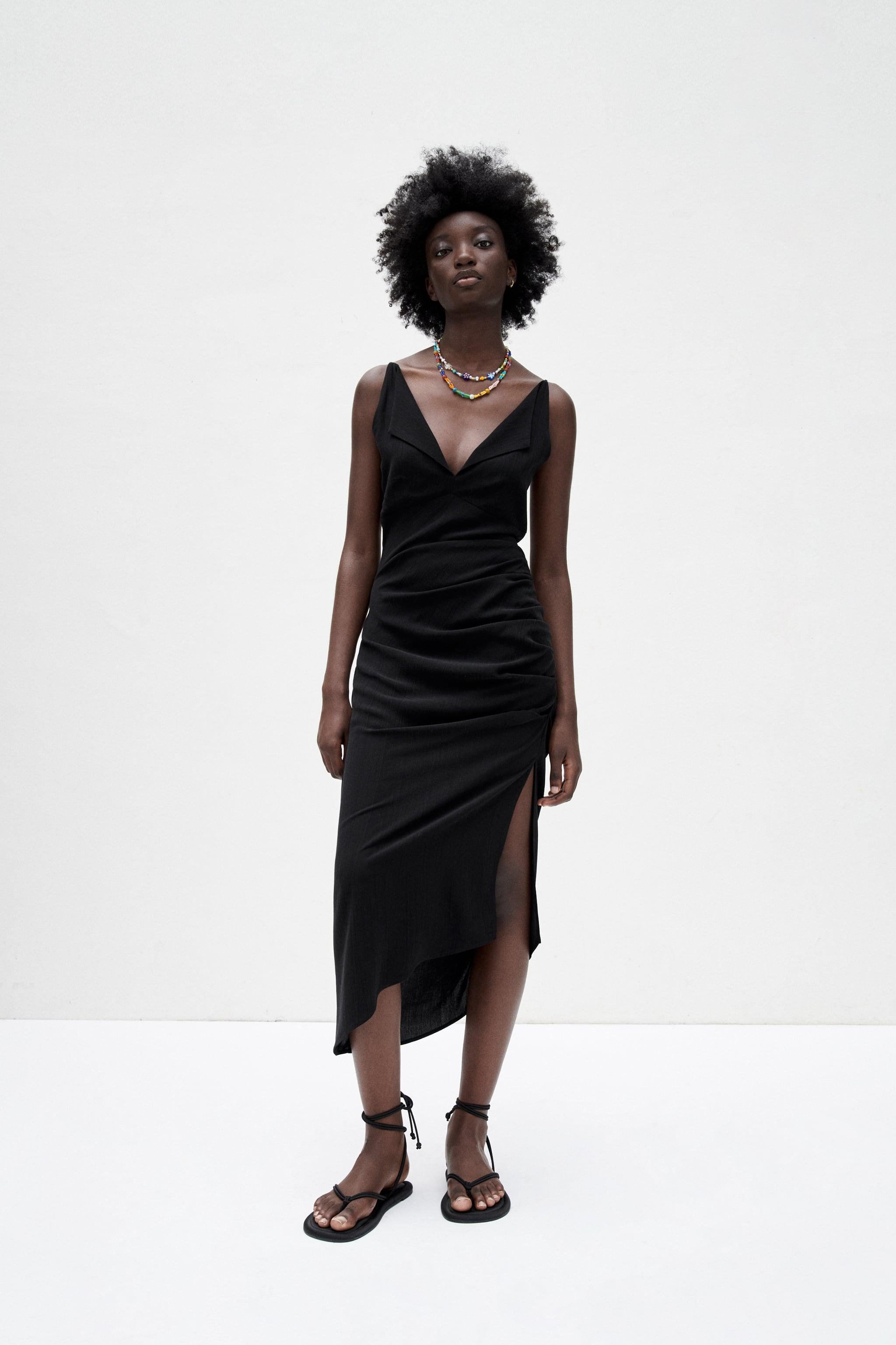 MIDI DRESS WITH OPEN BACK