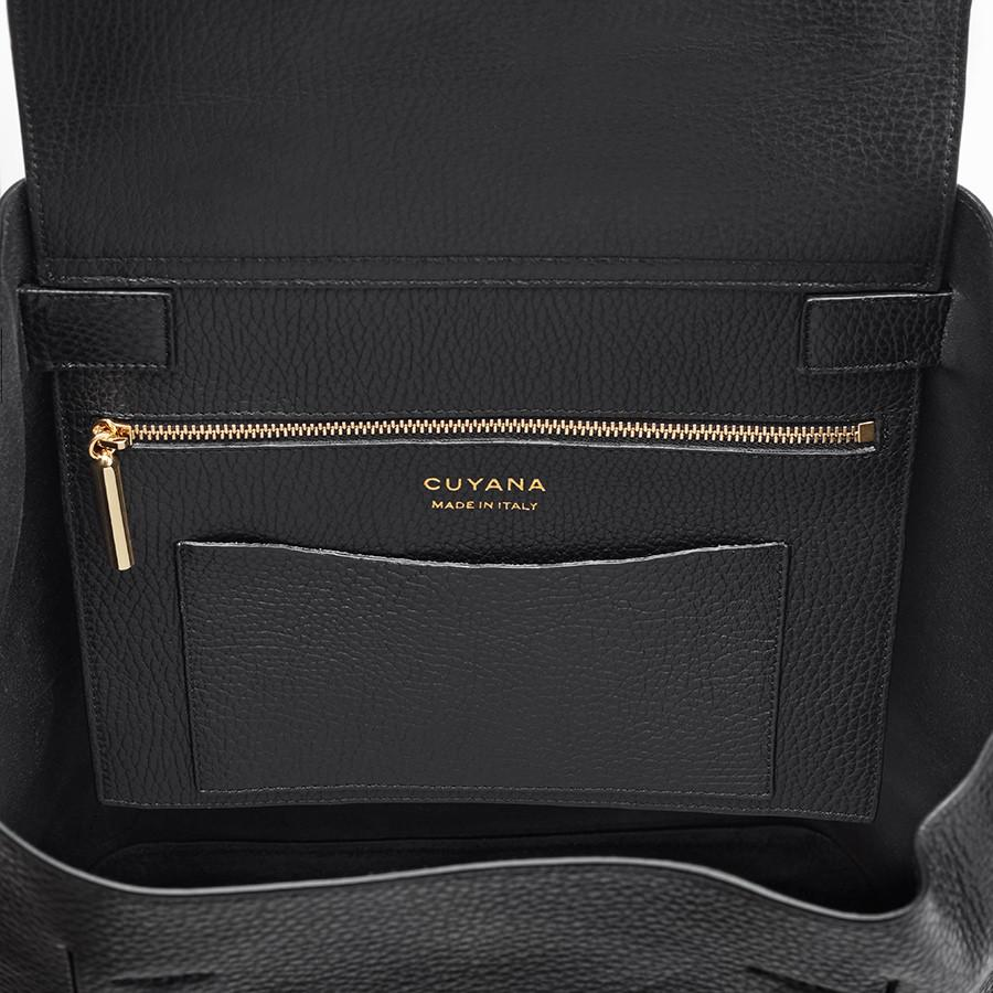 Women's Leather Backpack in Black | Pebbled Leather by Cuyana 4