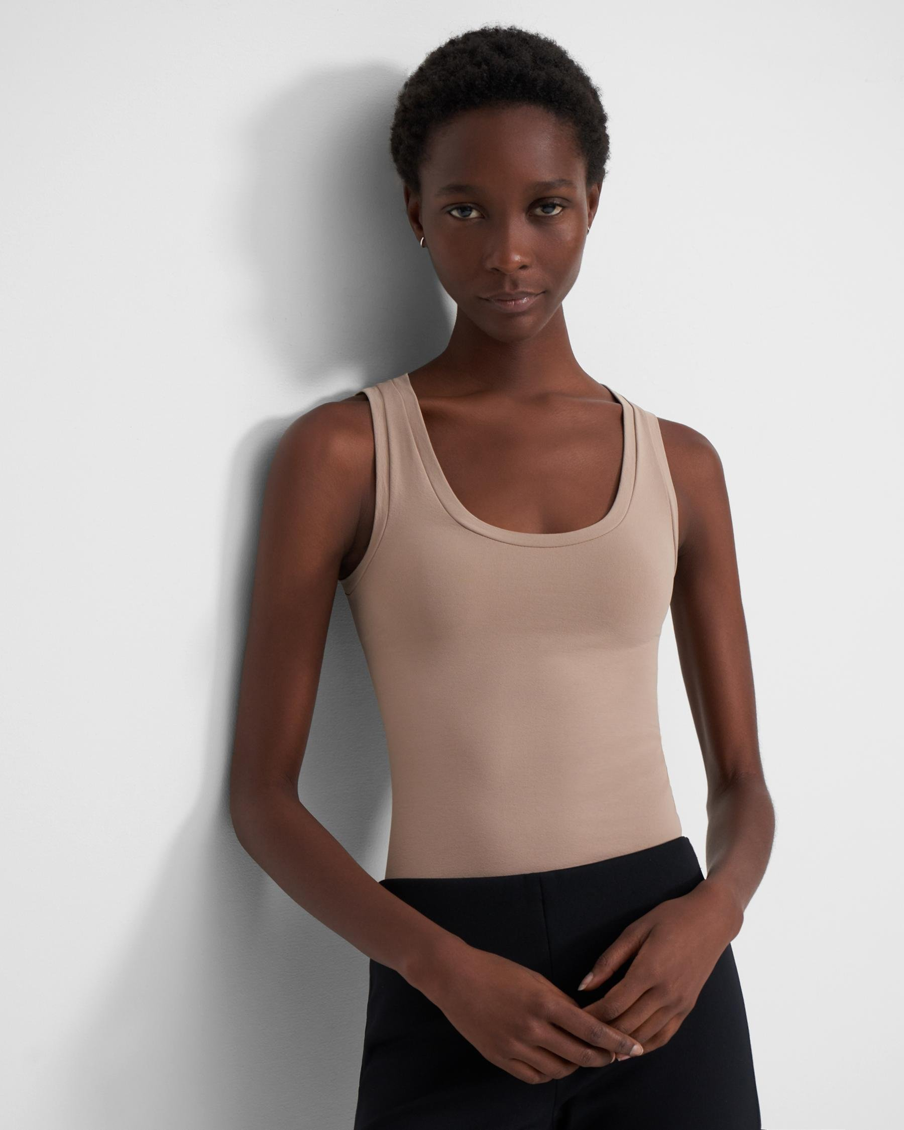 Tank Top in Stretch Jersey