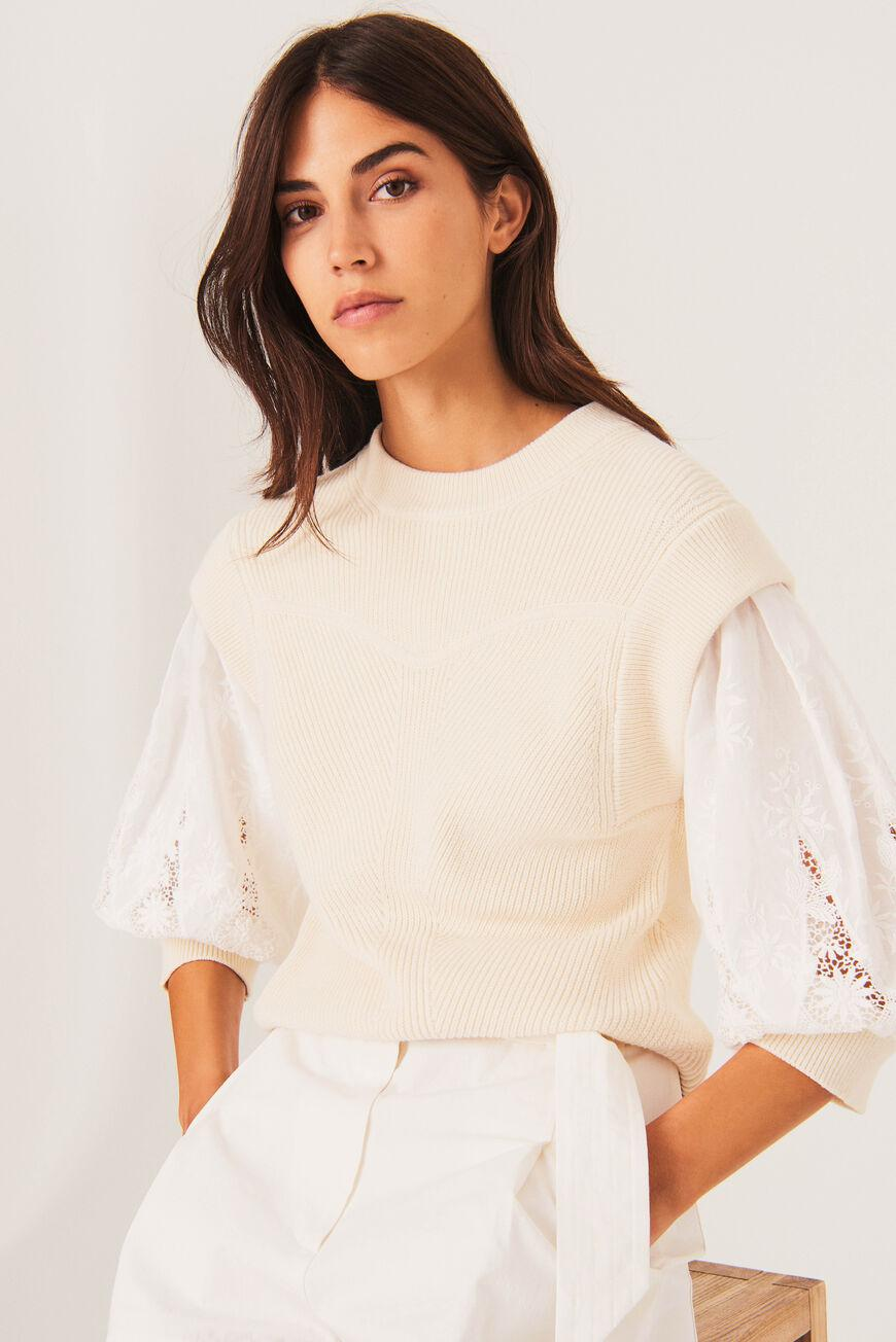 samoa.TWO-IN-ONE SWEATER