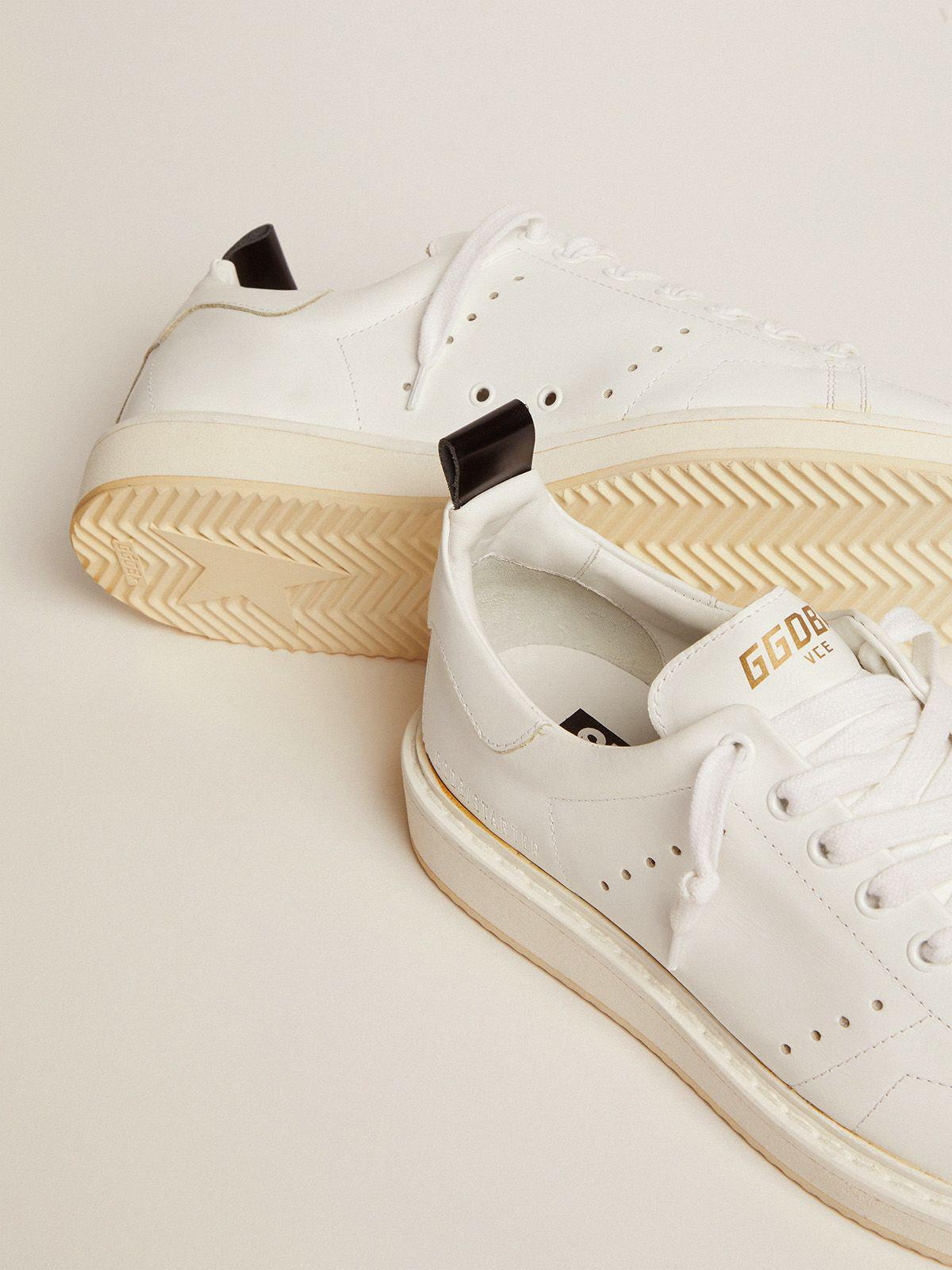 Starter sneakers in total white leather 2