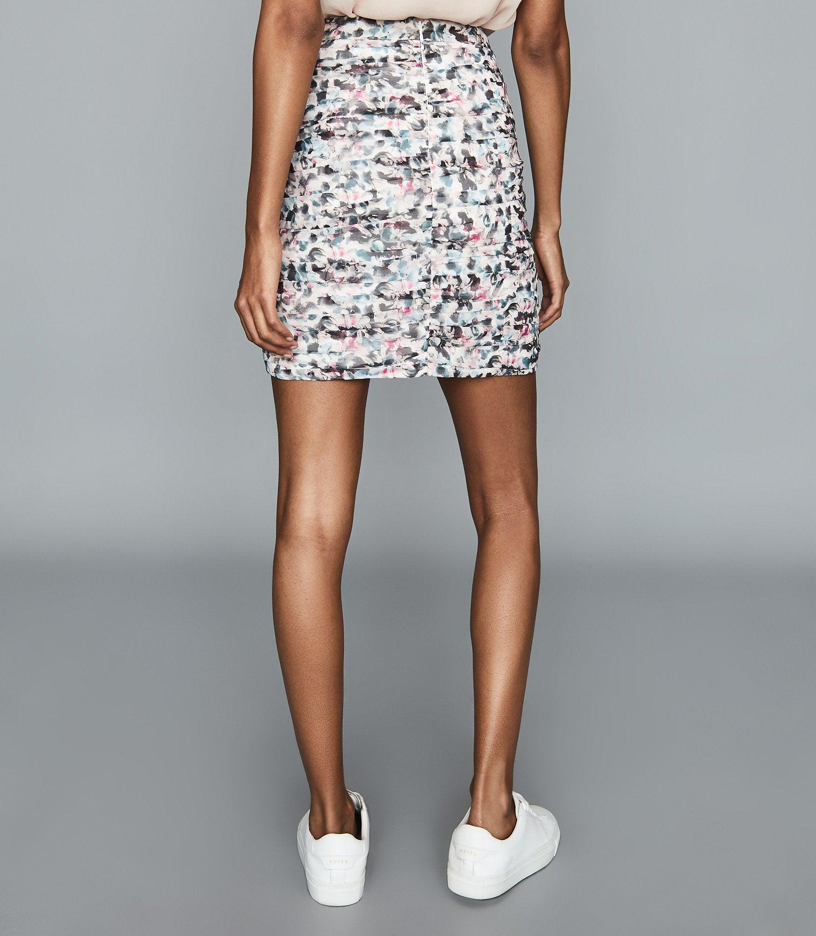 LUCIELLE - FLORAL PRINT RUCHED MINI SKIRT 3