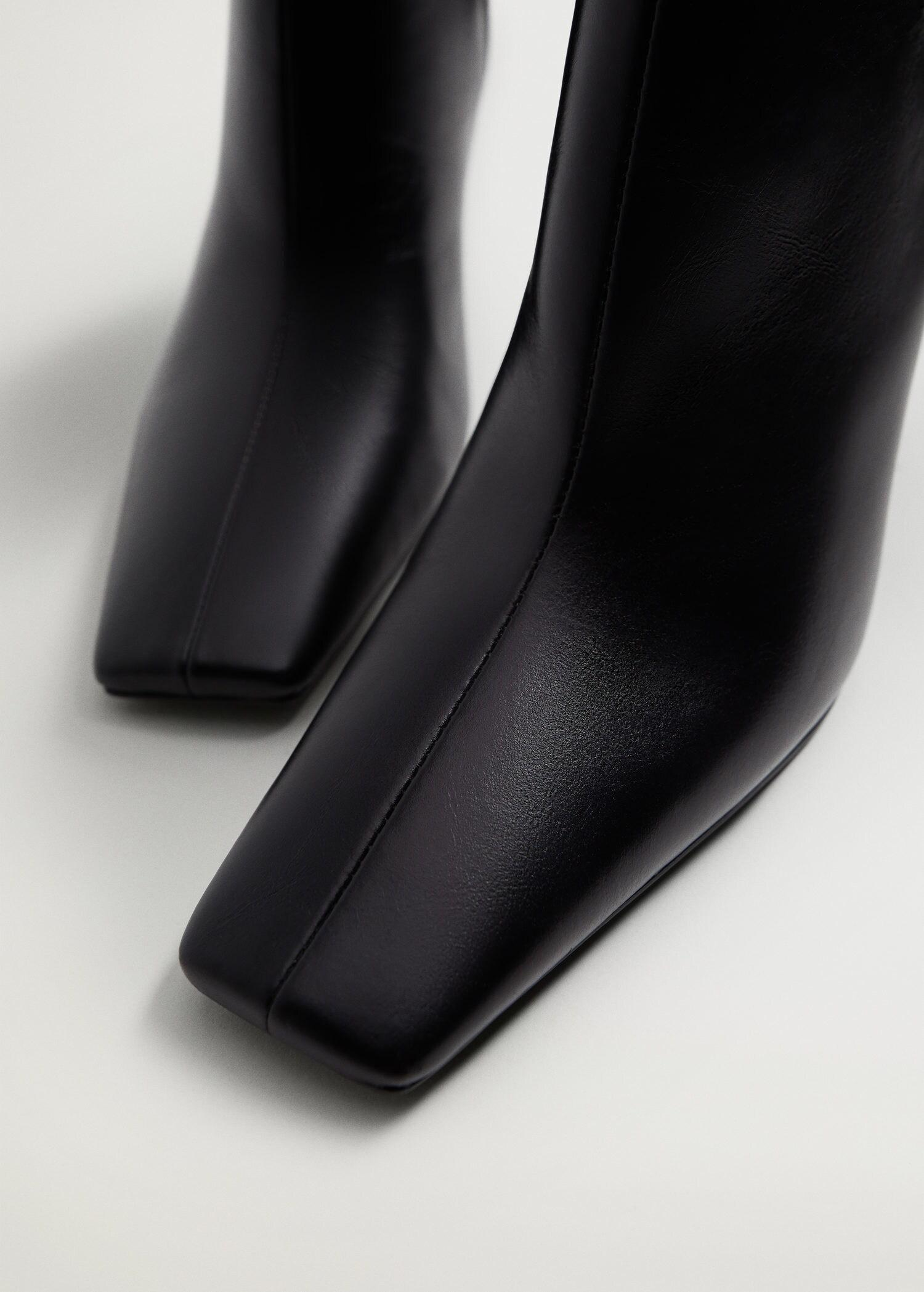 Heel leather ankle boot 4
