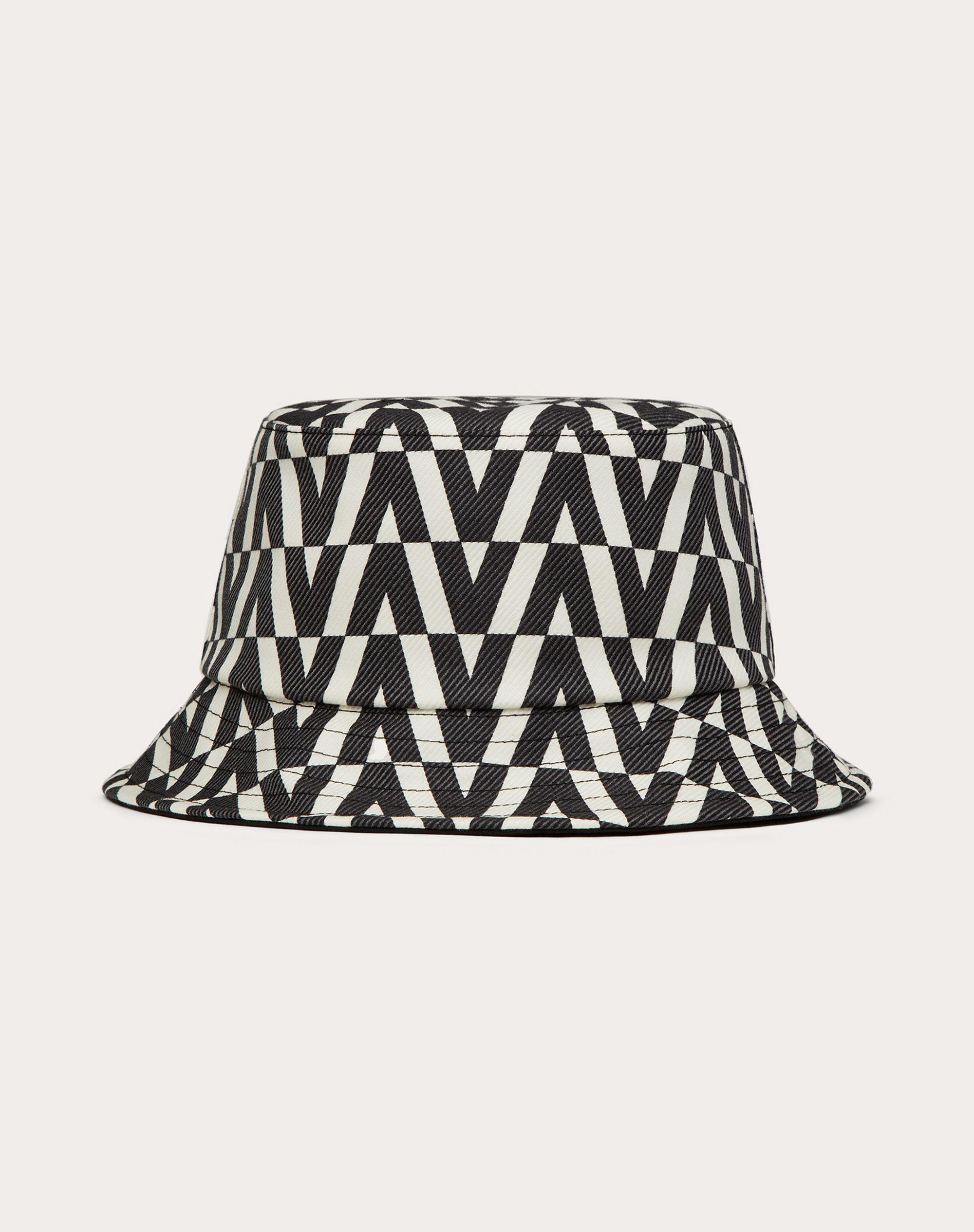 Bucket Hat with Optical Valentino Print