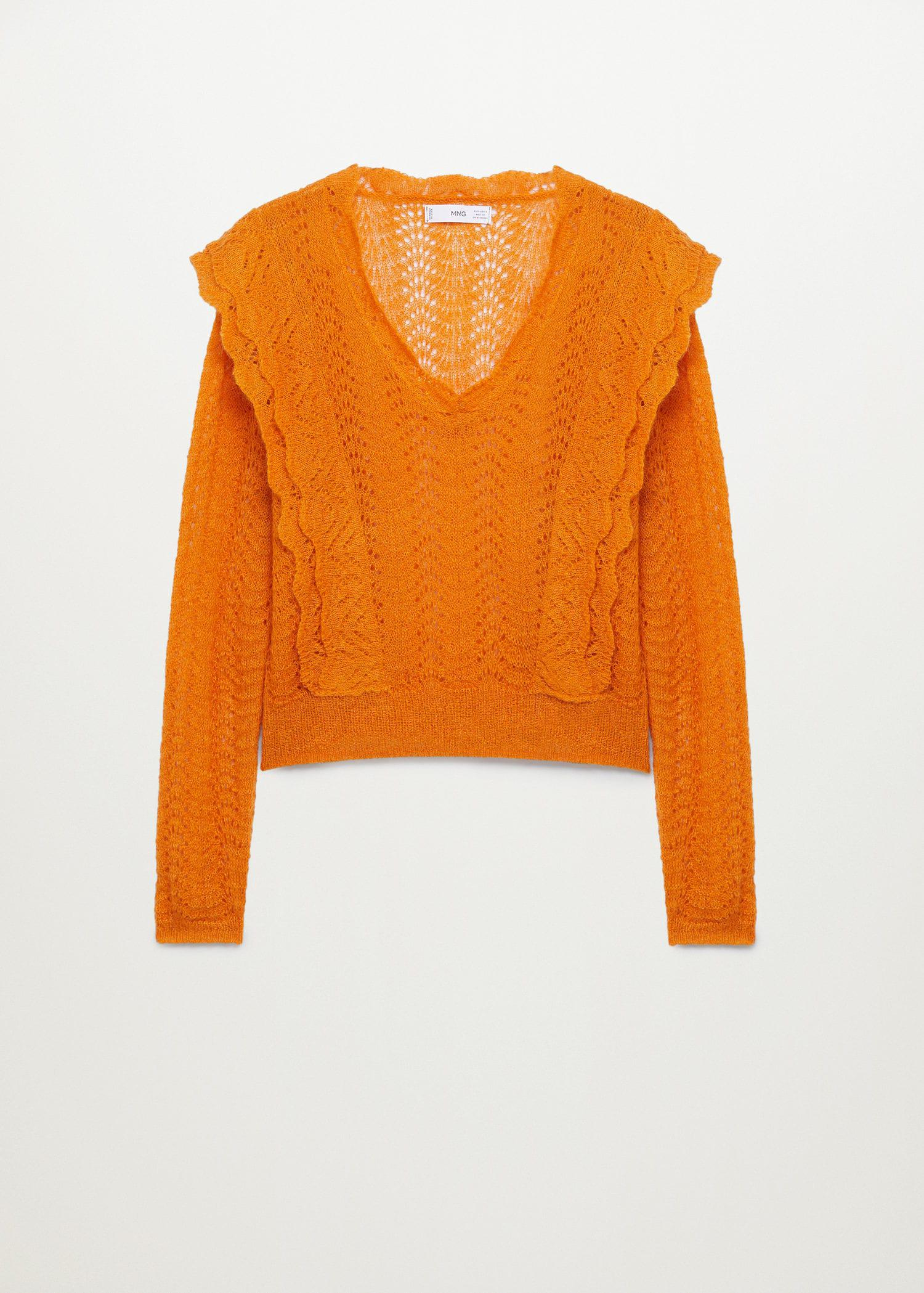 Openwork cropped sweater 6