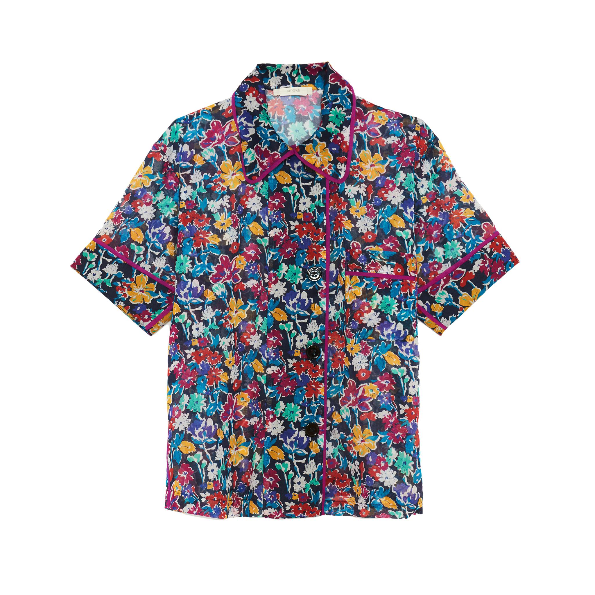 Shelby Pajama Top Floral Midnight 1