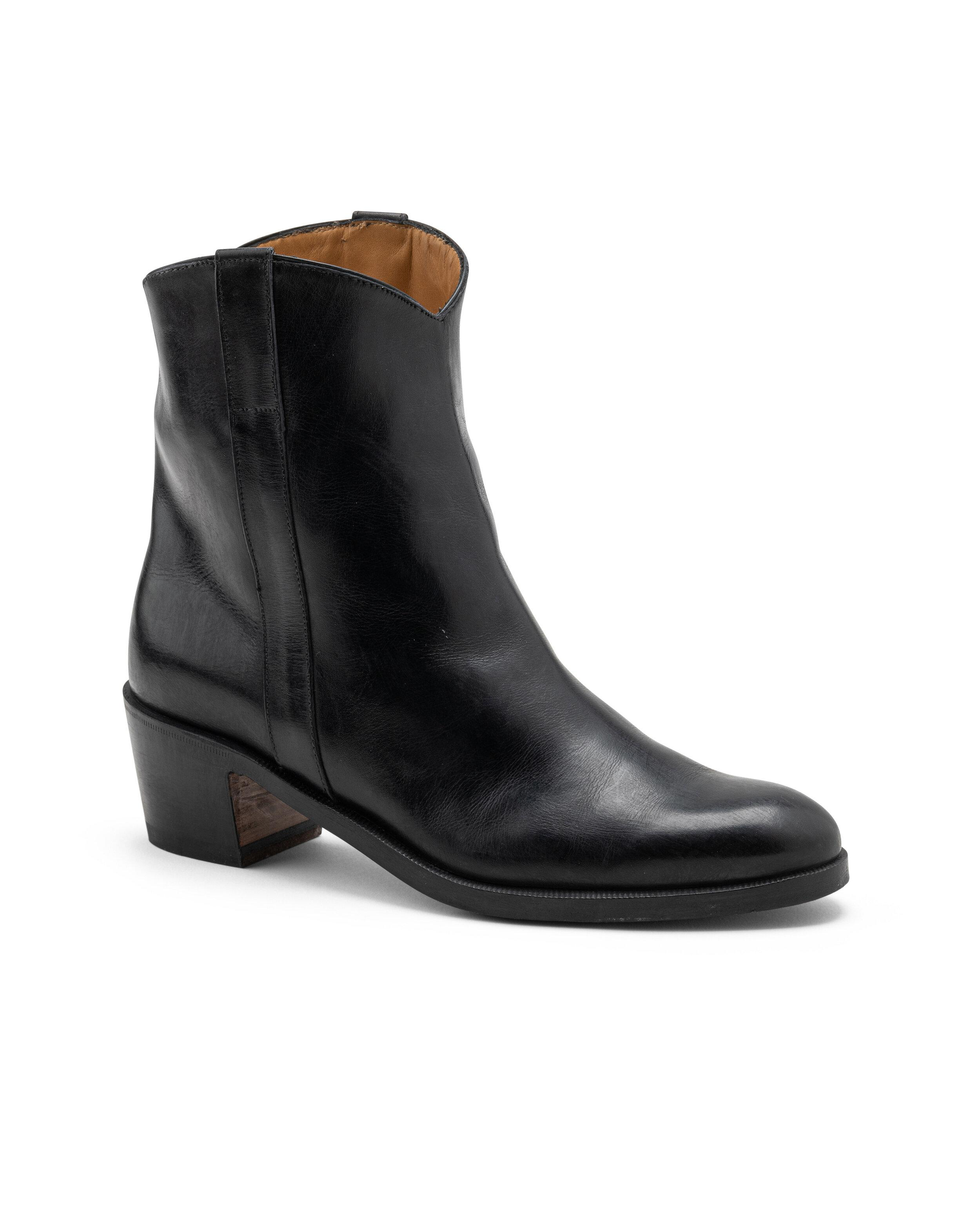 ODPEssentials Classic Texano Boot - Black Leather
