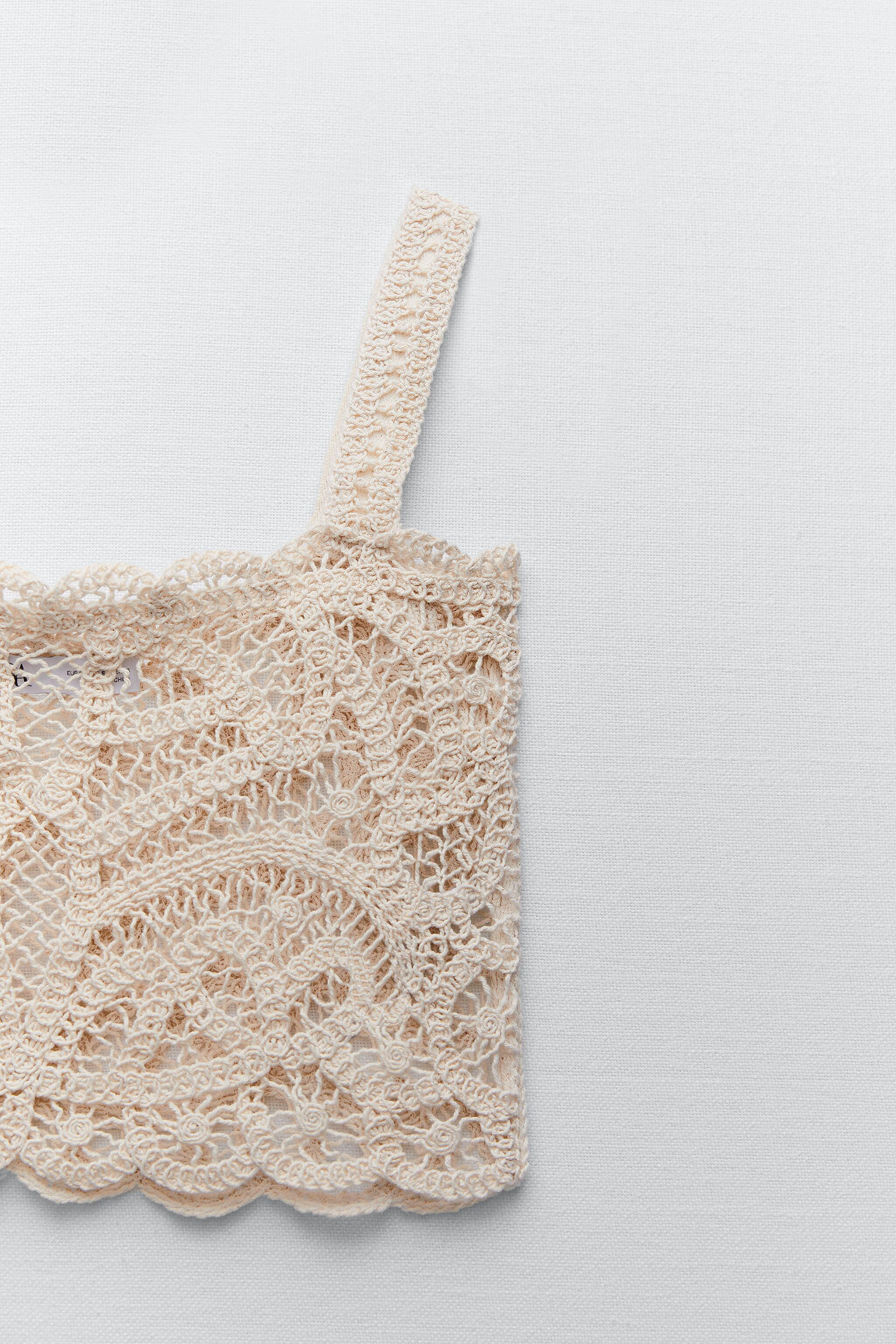EMBROIDERED GUIPURE LACE CROP TOP LIMITED EDITION 4