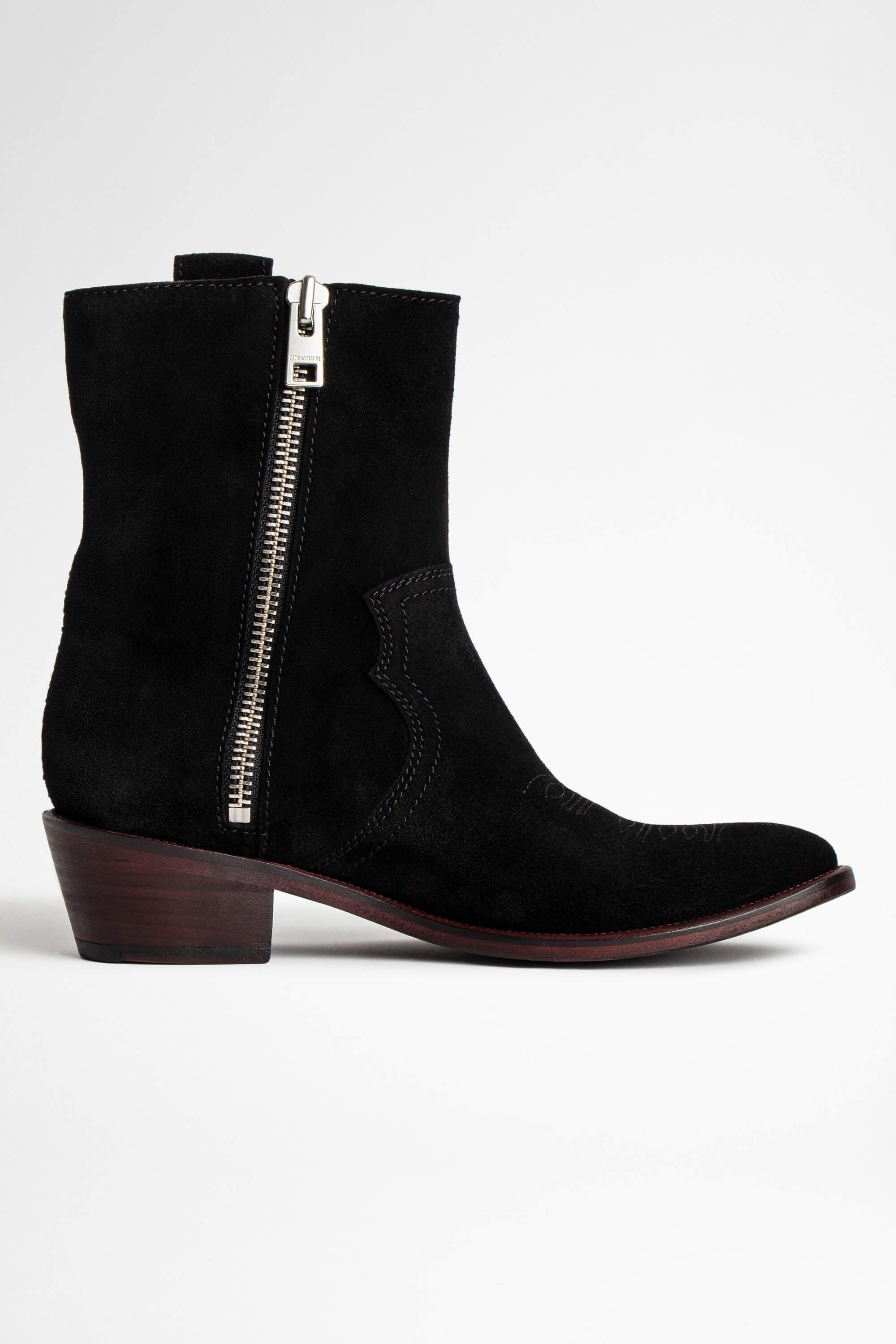 Pilar High Suede Ankle Boots 1