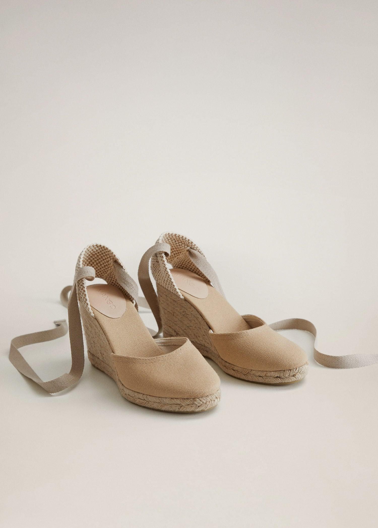 Wedge strips sandals 1