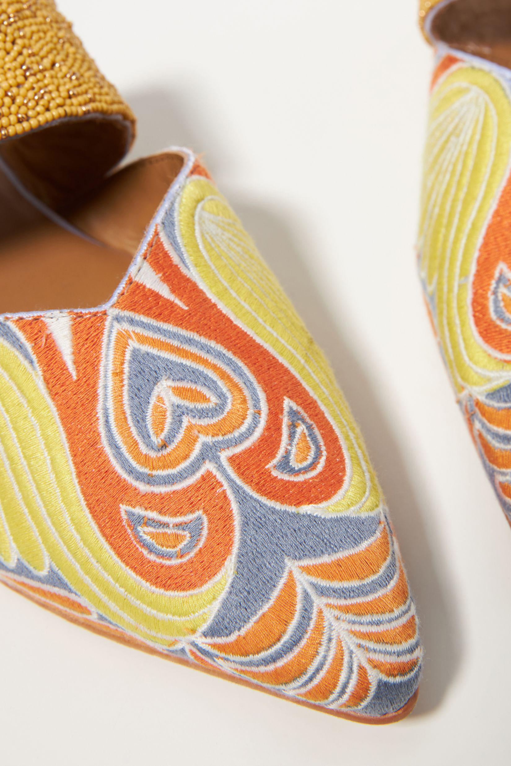 Butterfly Embroidered Mules 3