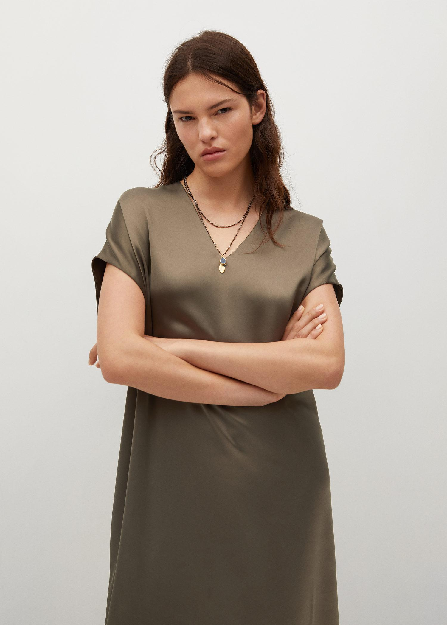 Flowy dress with openings