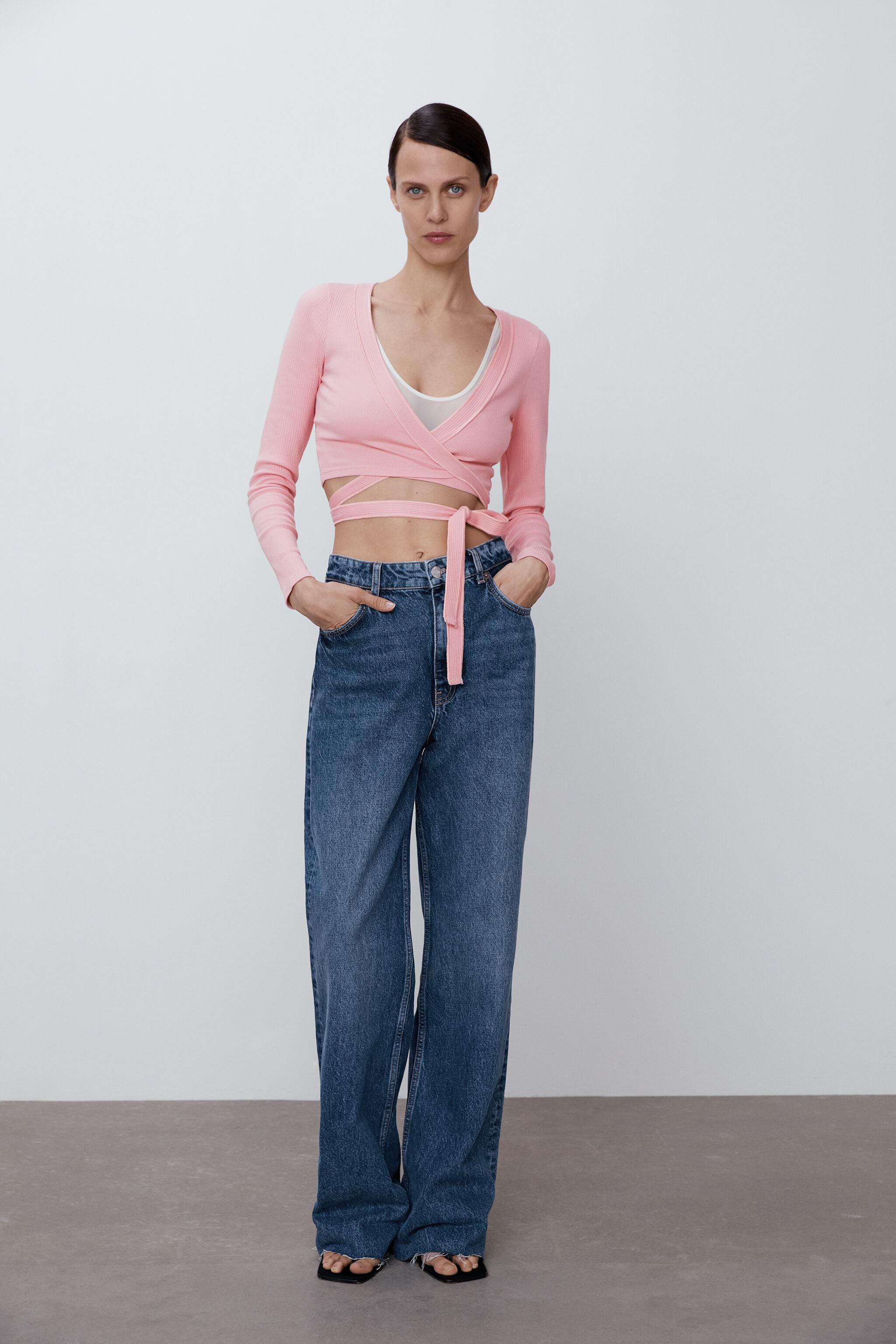 TIED CROPPED SWEATER