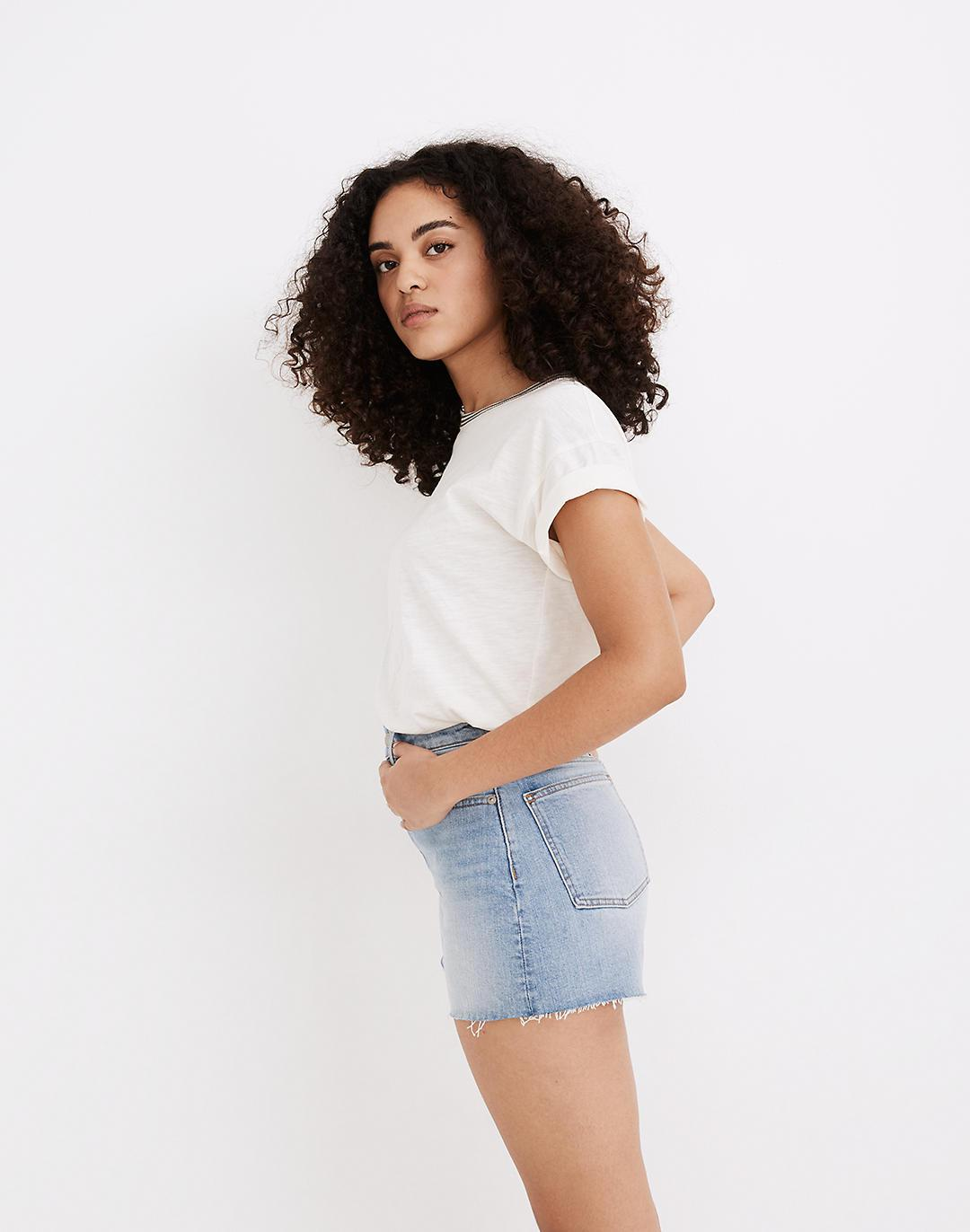 The Curvy Perfect Jean Short in Baylis Wash 1