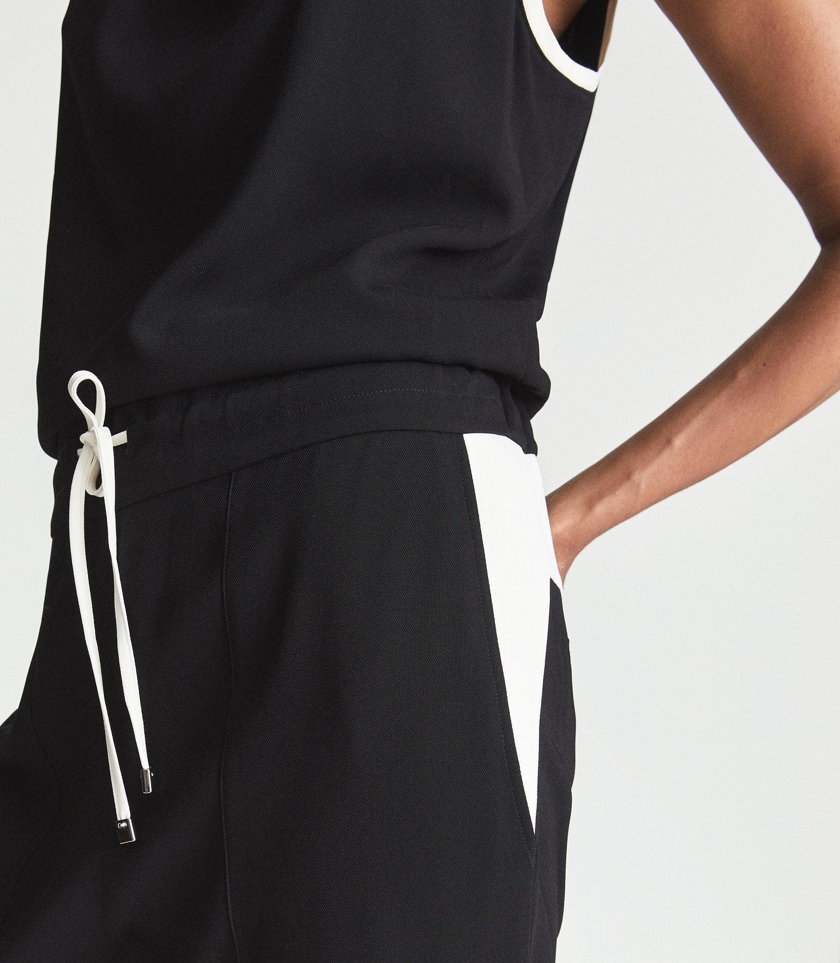 CLAUDIA - SLEEVELESS JUMPSUIT WITH CONTRAST TIPPING 5