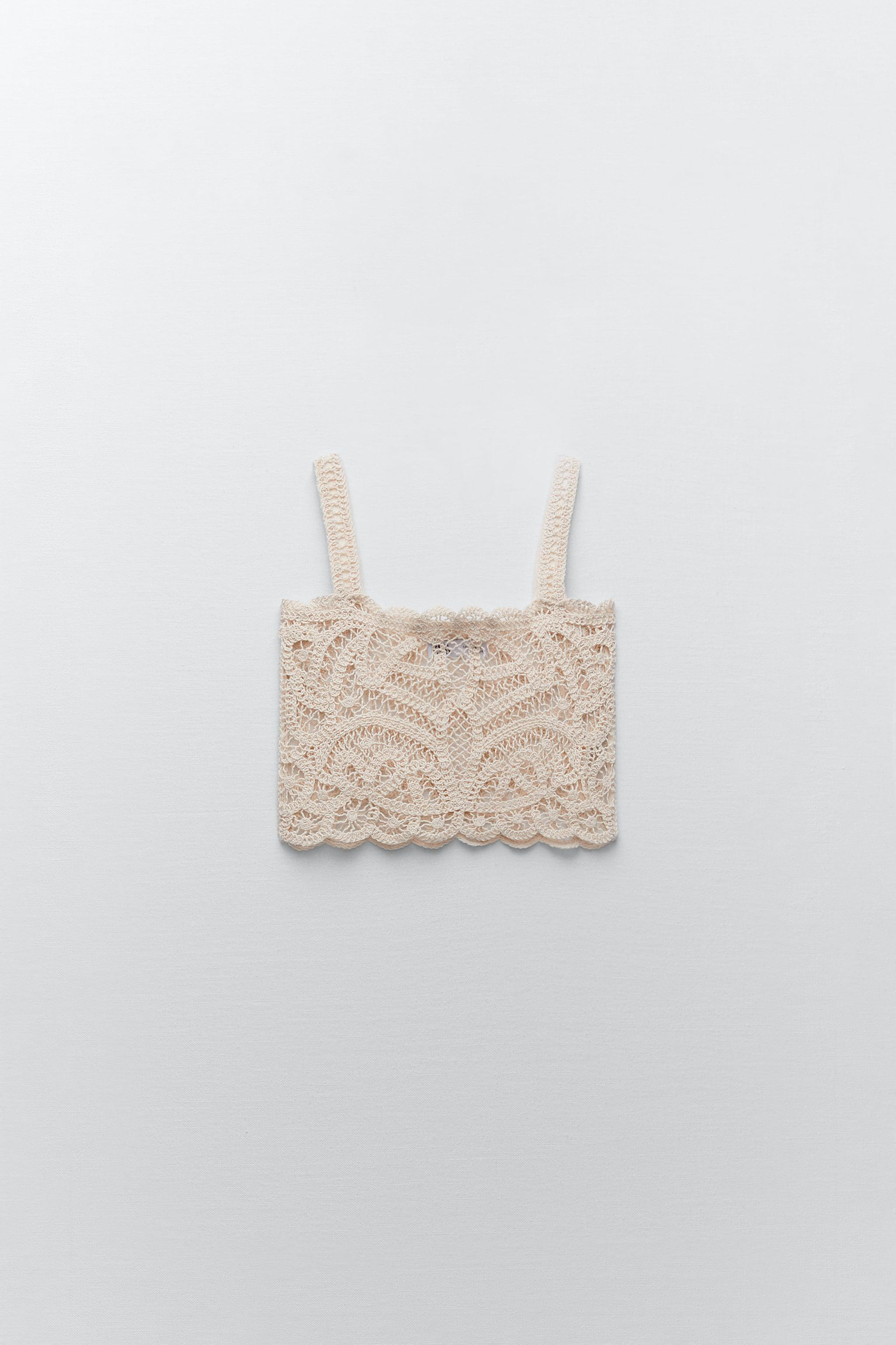 EMBROIDERED GUIPURE LACE CROP TOP LIMITED EDITION 2