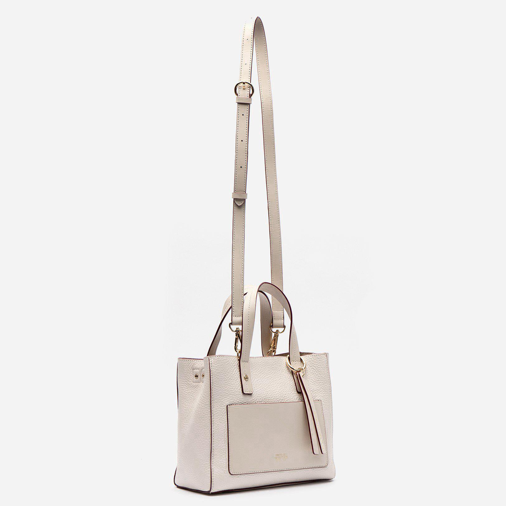 Small Chloe Tumbled Leather Oyster 1