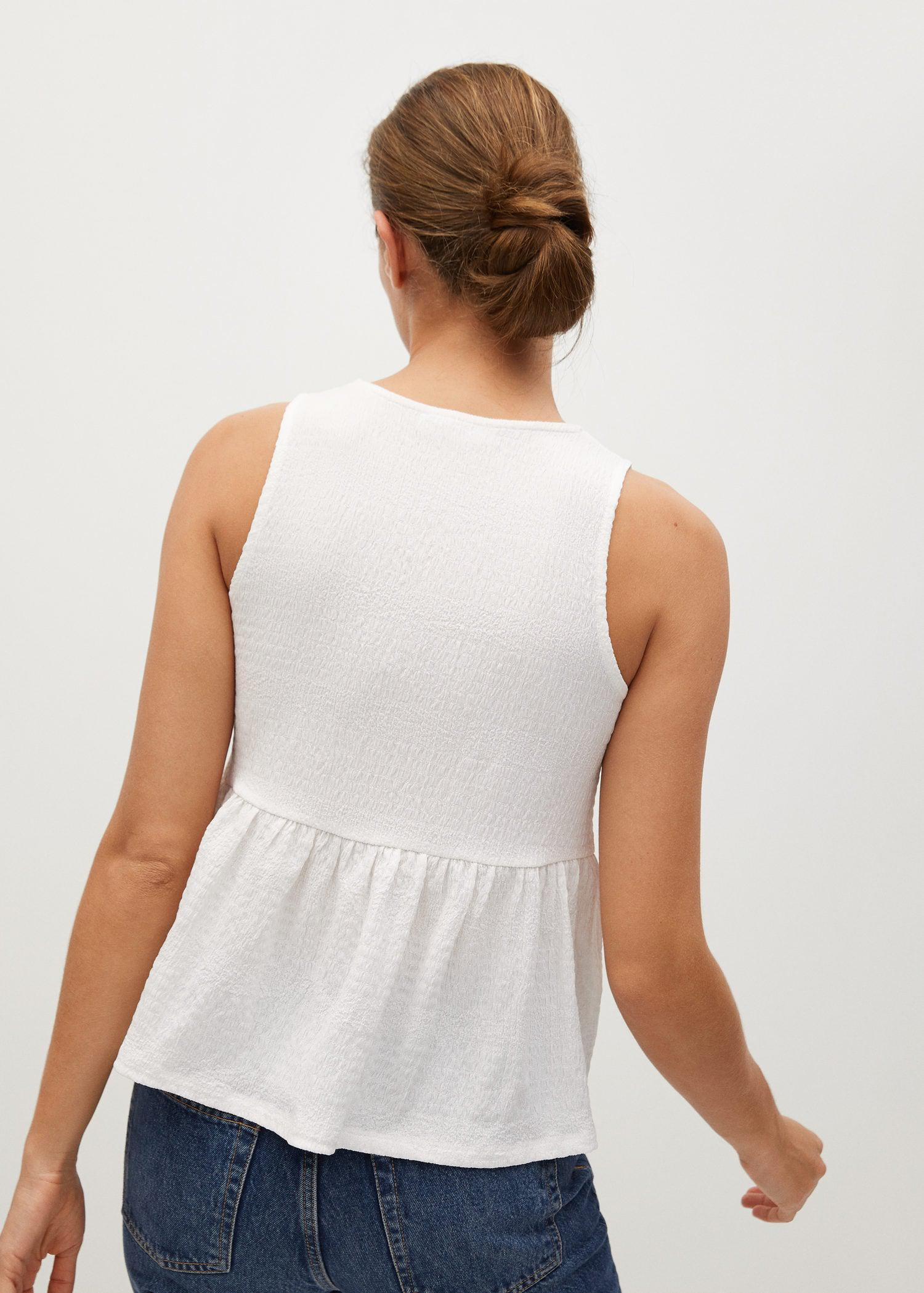 Top with ruffle texture 2
