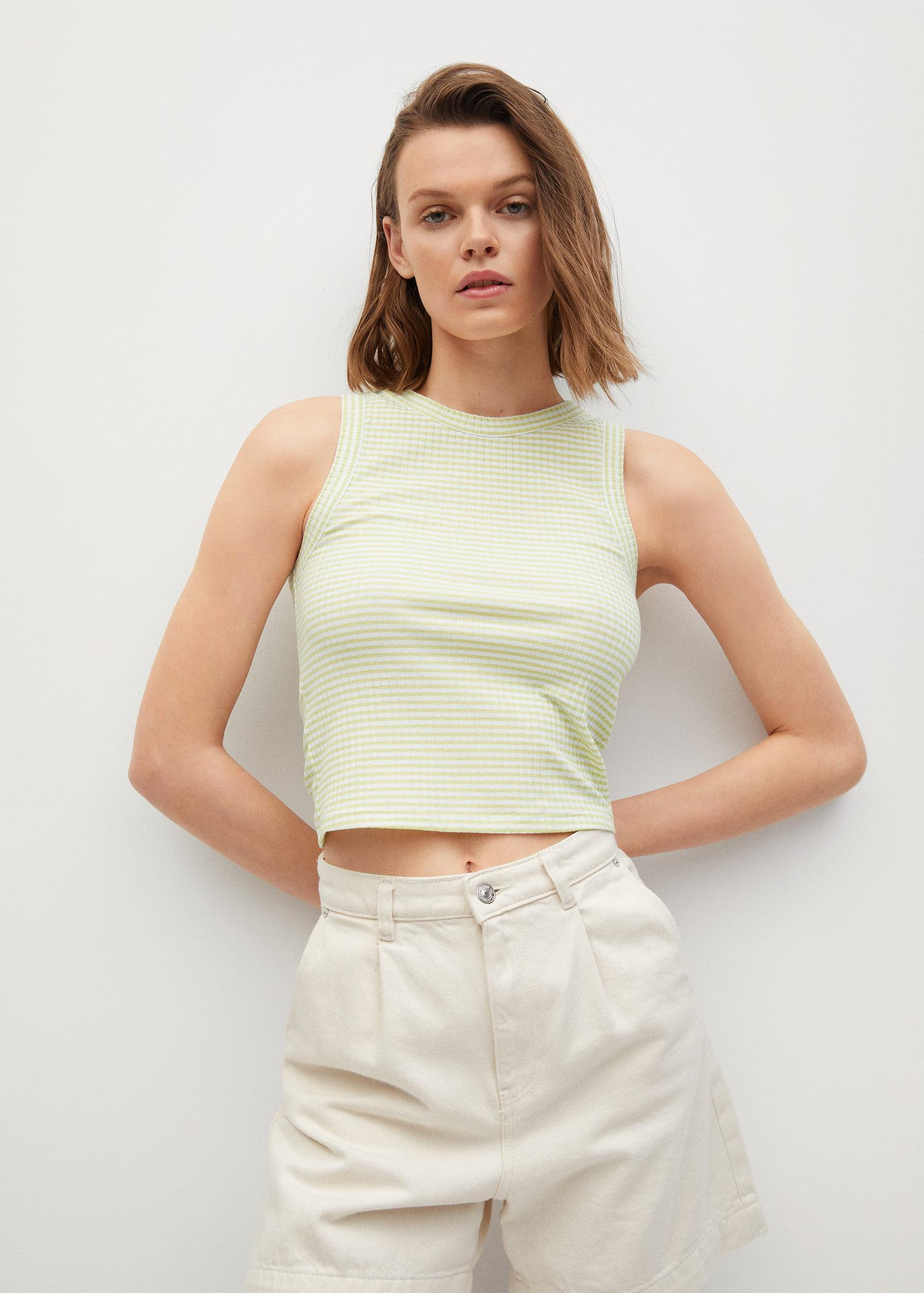 Recycled polyester top