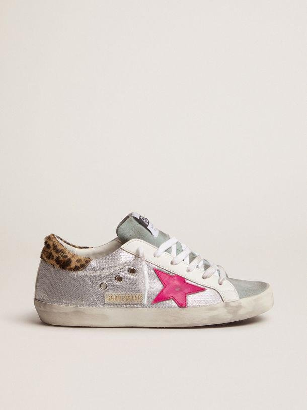 Super-Star sneakers with sequins and leopard-print heel tab