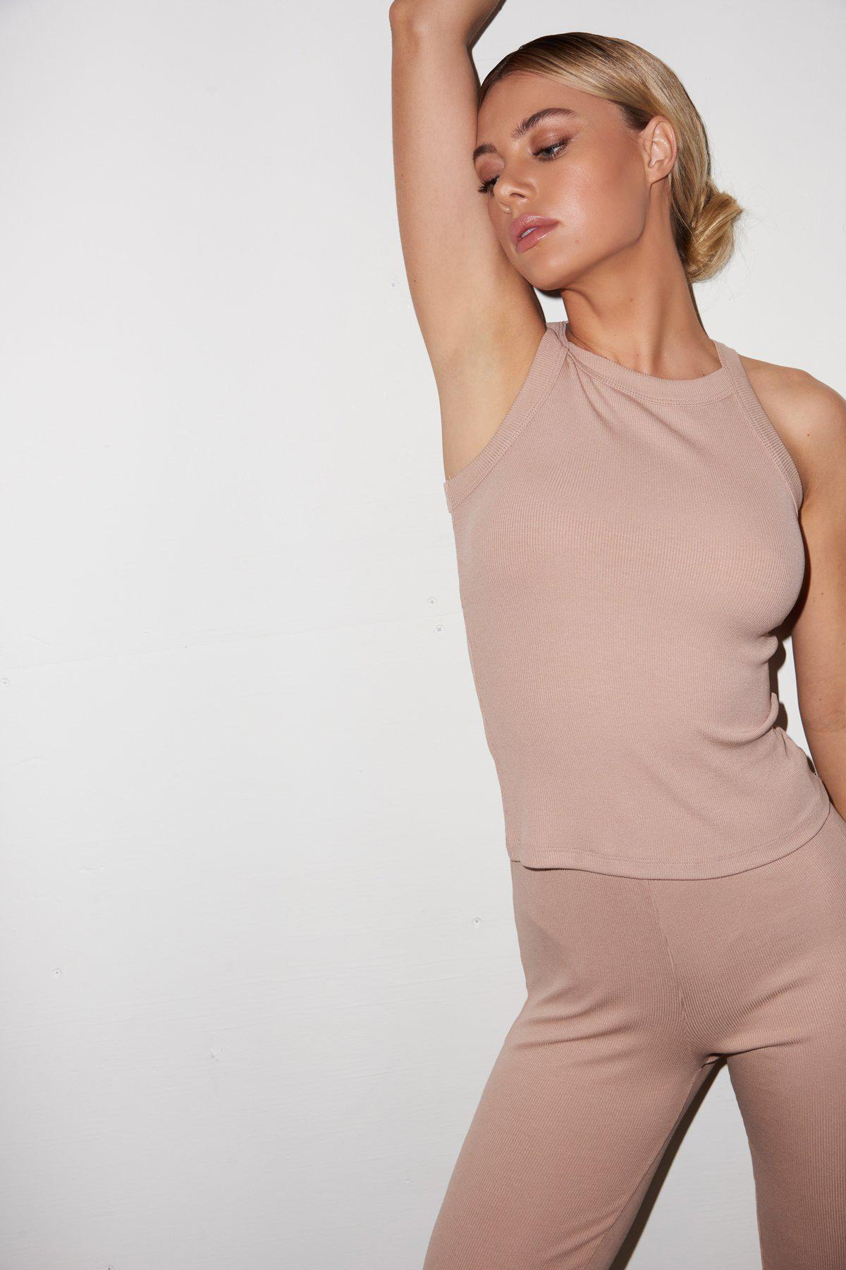 Ribbed Dylan Tank - Nude