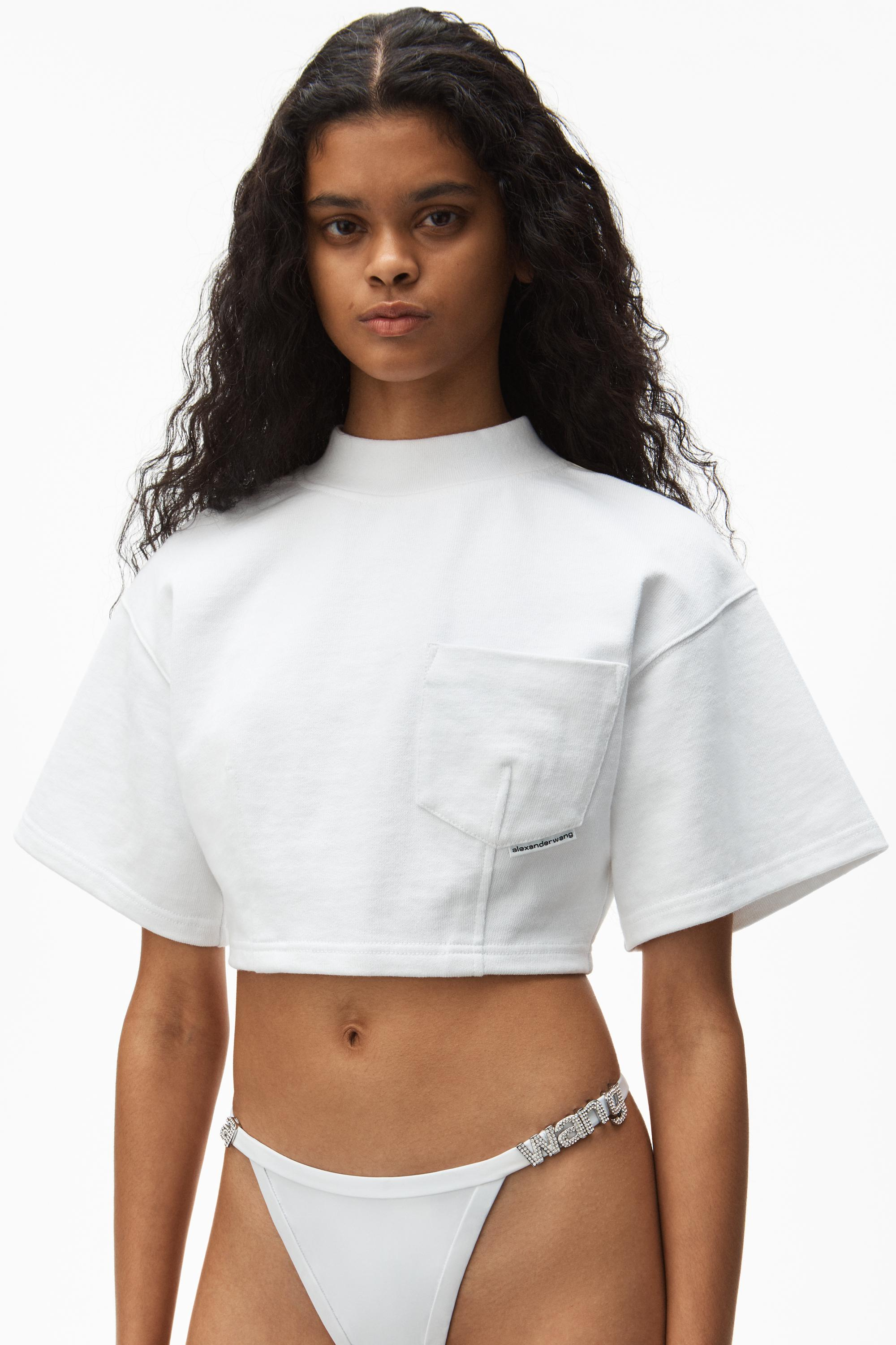 sculpted cropped tee 2