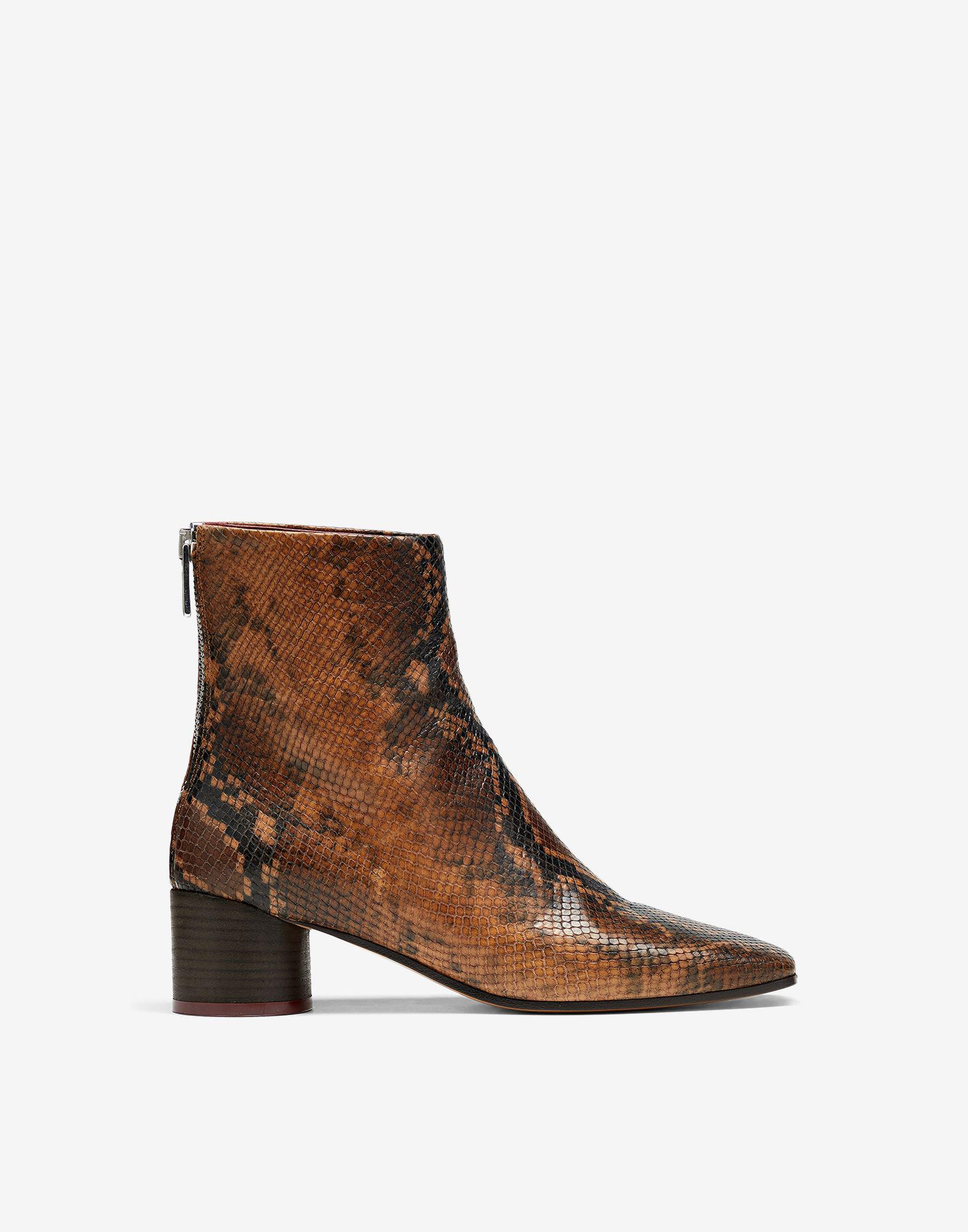 Square toe 6 heel ankle boots