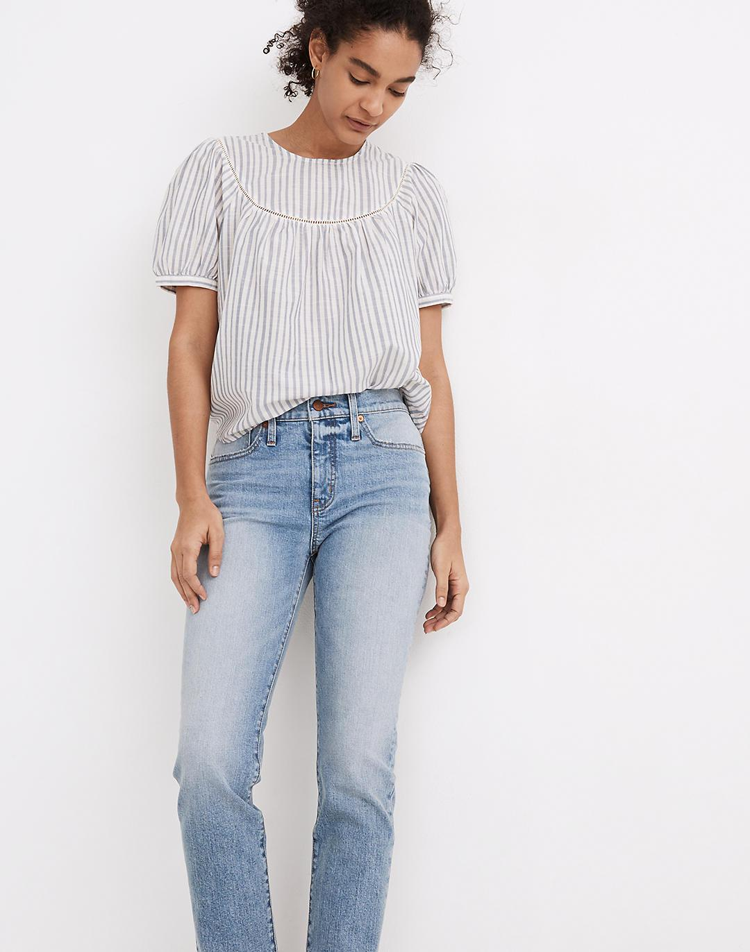 Tomboy Straight Jeans in Glover Wash 1