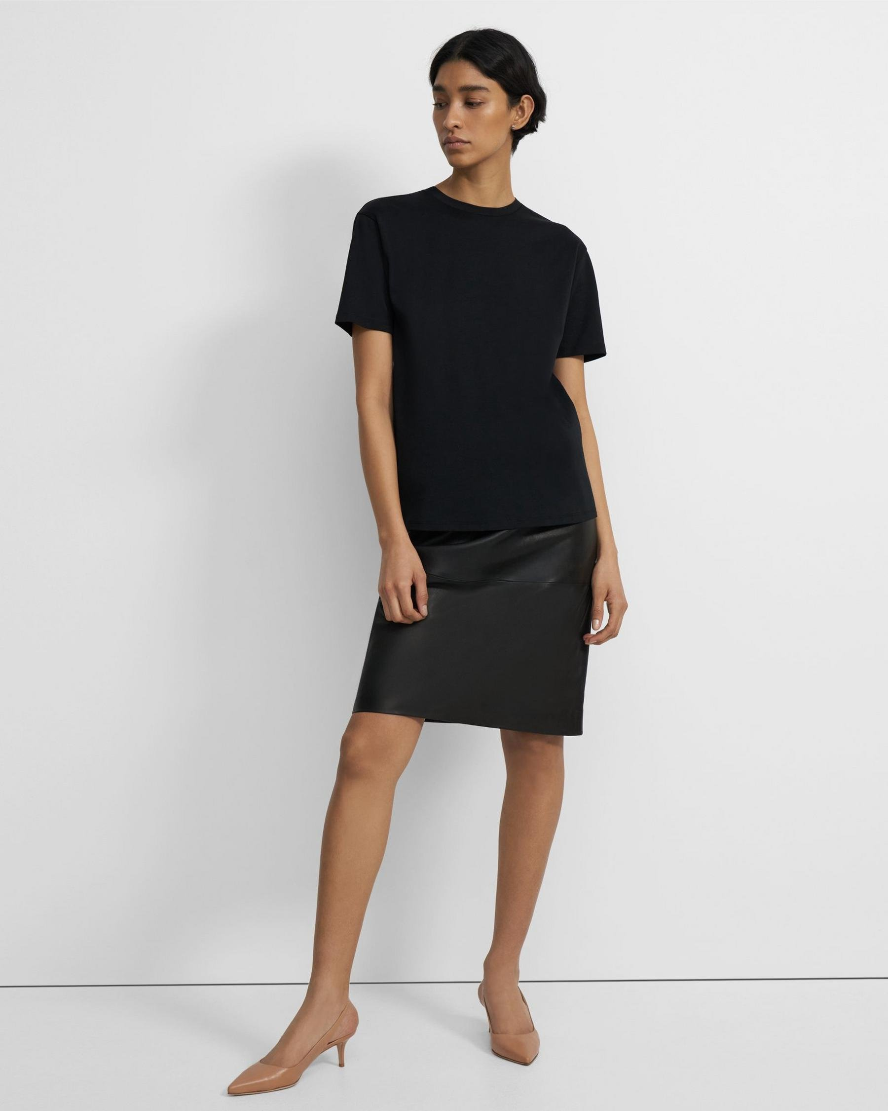 Short-Sleeve Perfect Tee in Cotton Jersey 3