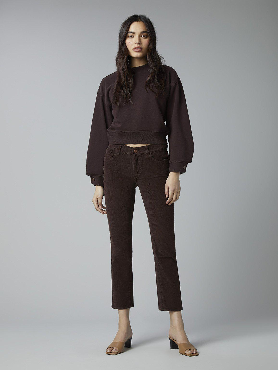 Mara Straight Mid Rise Instasculpt Ankle | Woodland