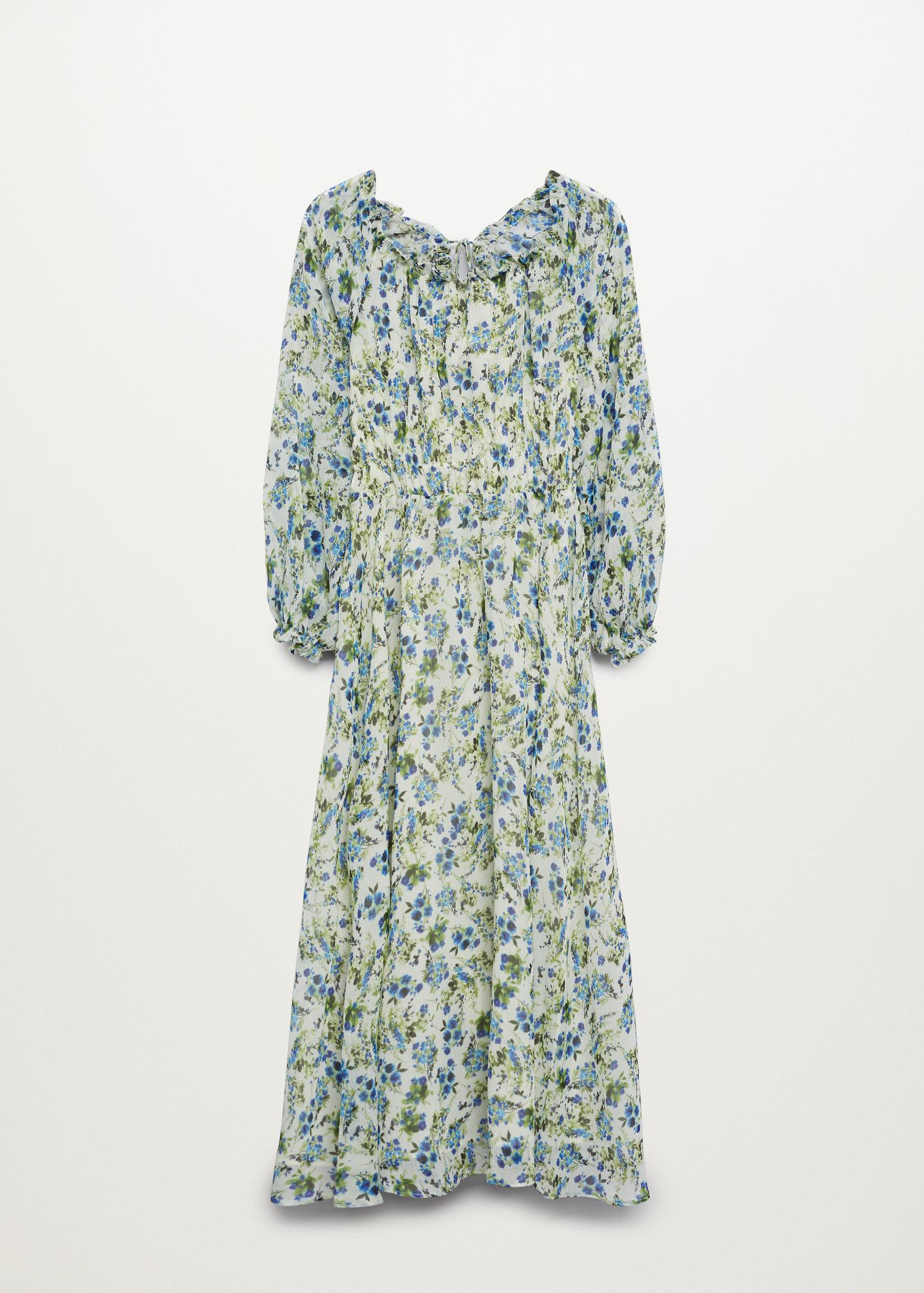 Printed dress with balloon sleeves 9