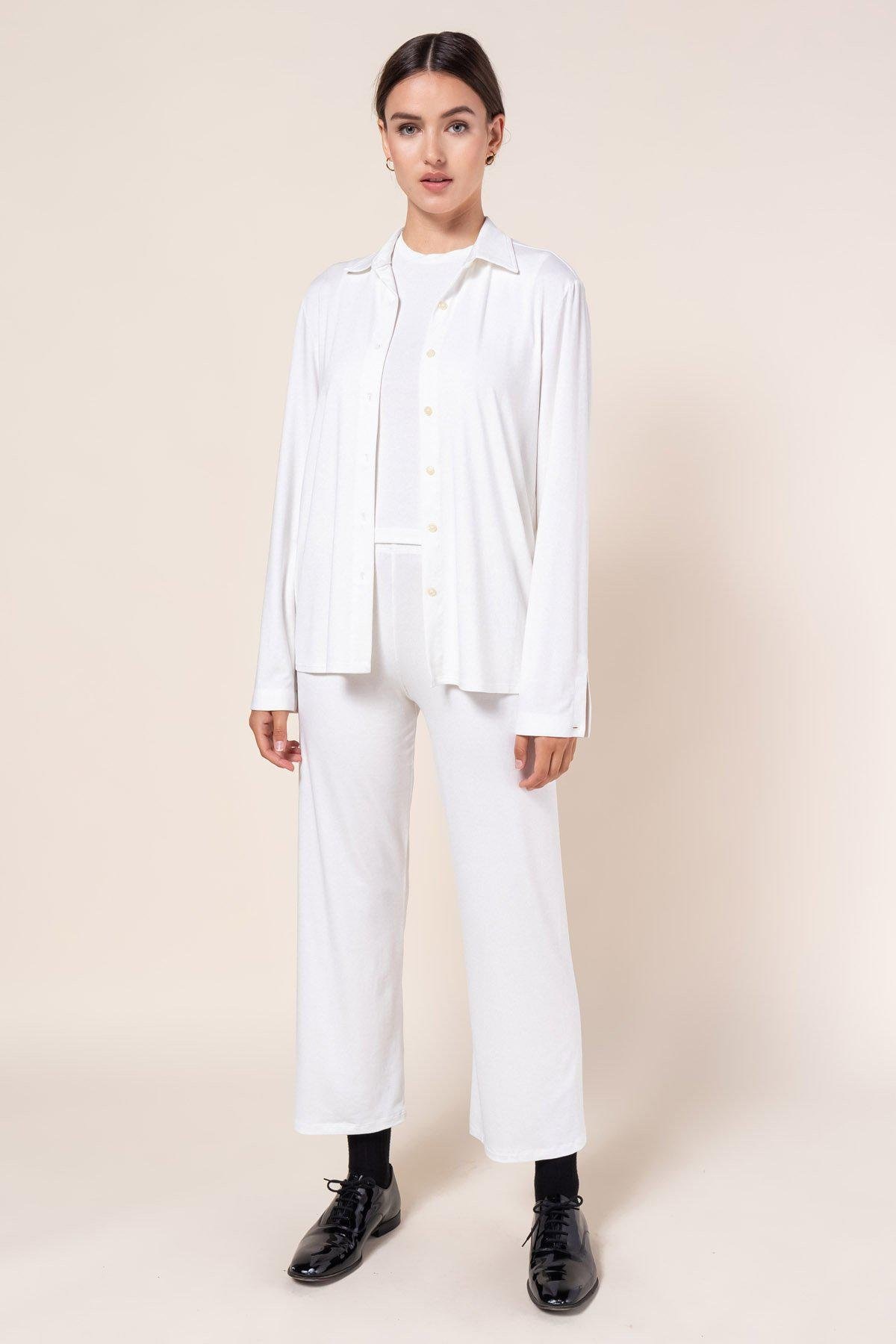 Dylan Fitted Button Down - White 1