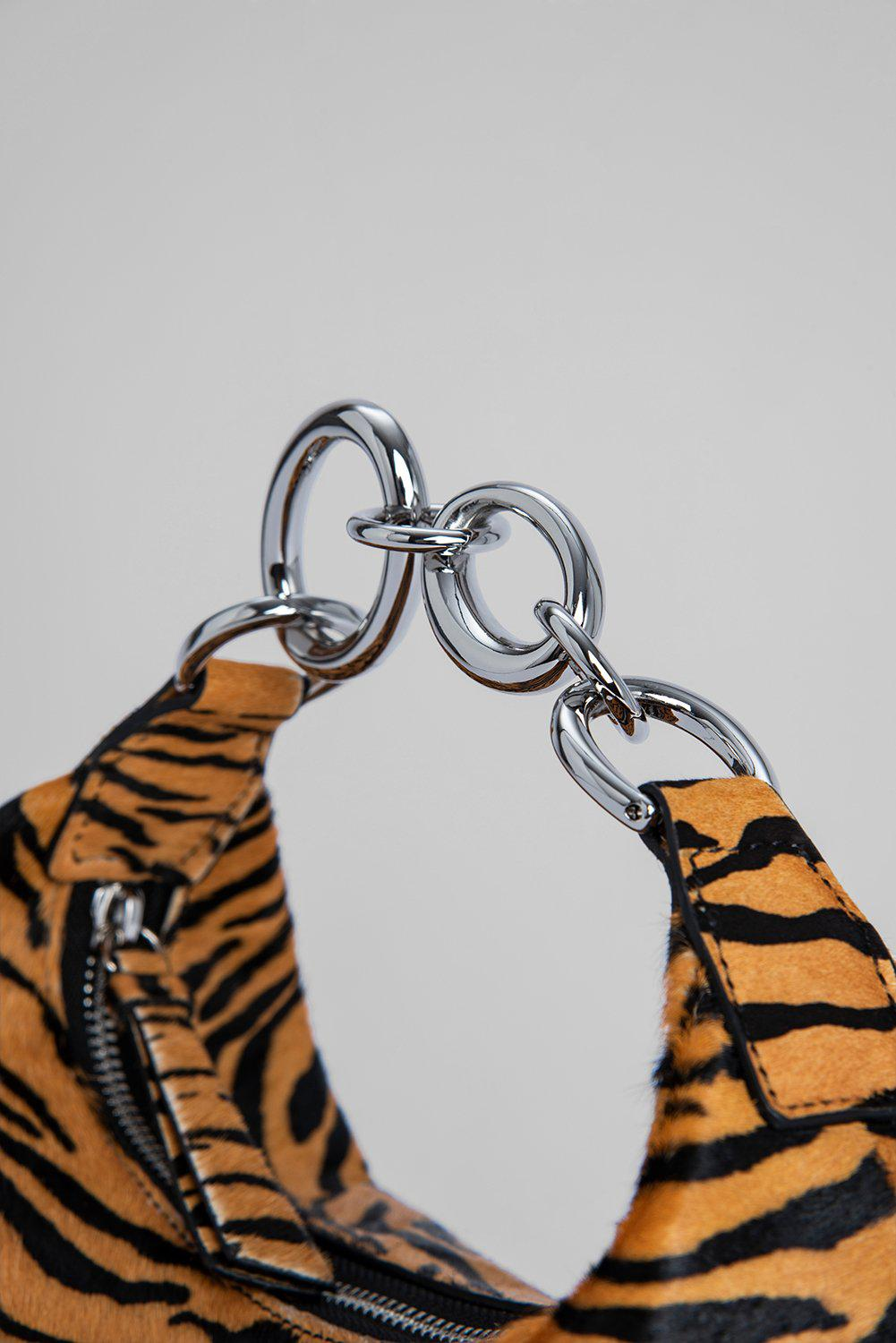 Bougie Tiger-Print Pony Hair Leather 6