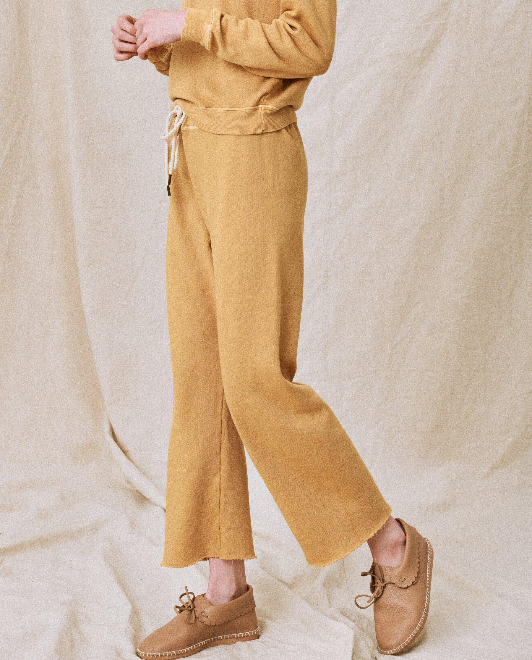 The Wide Leg Cropped Sweatpant. -- Honey 3