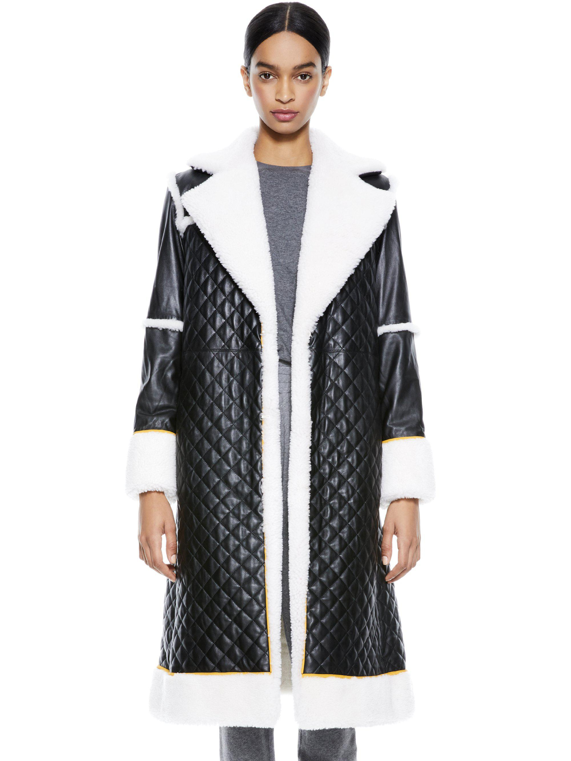LUSIANA QUILTED LEATHER MIDI COAT