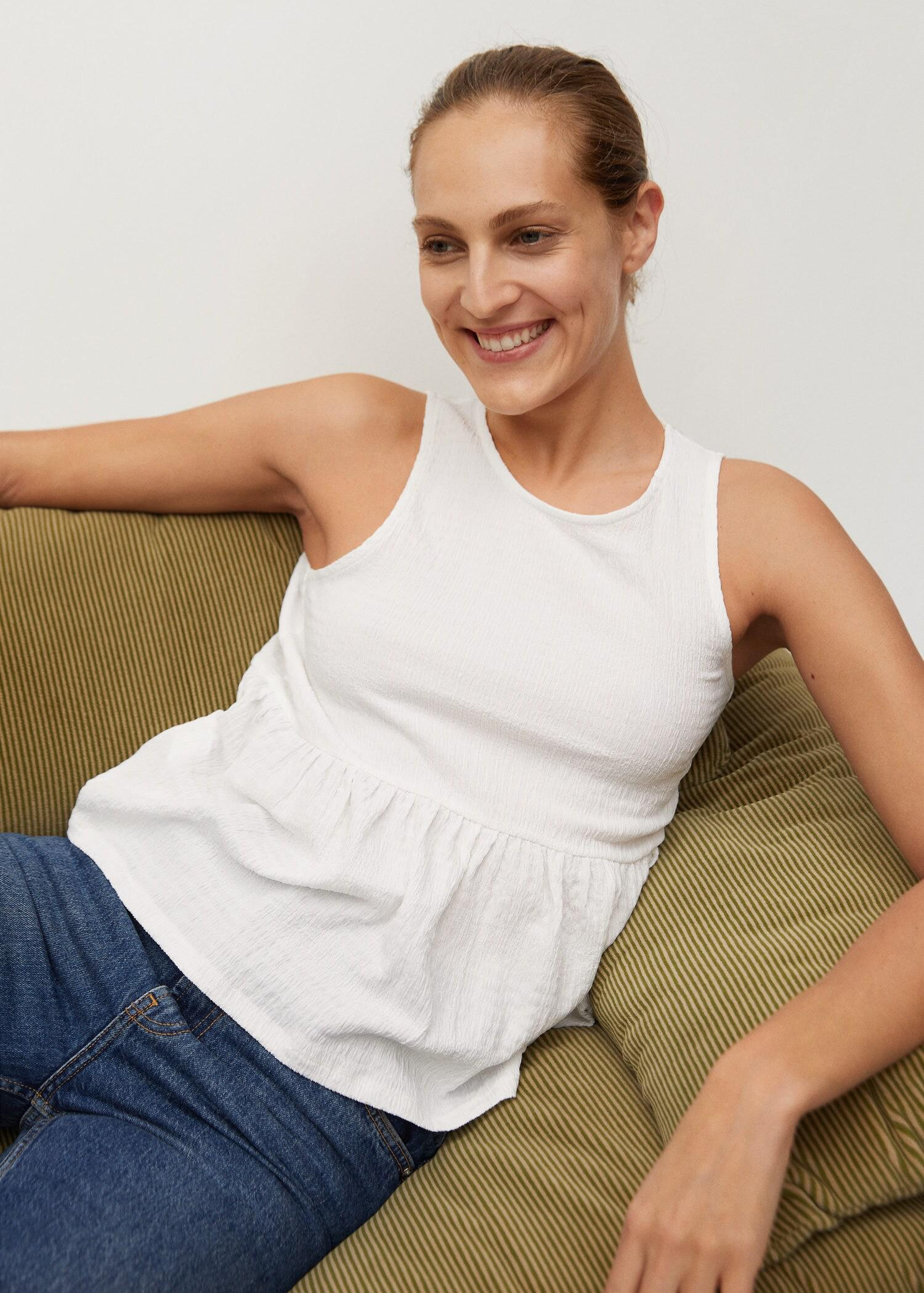 Top with ruffle texture 4