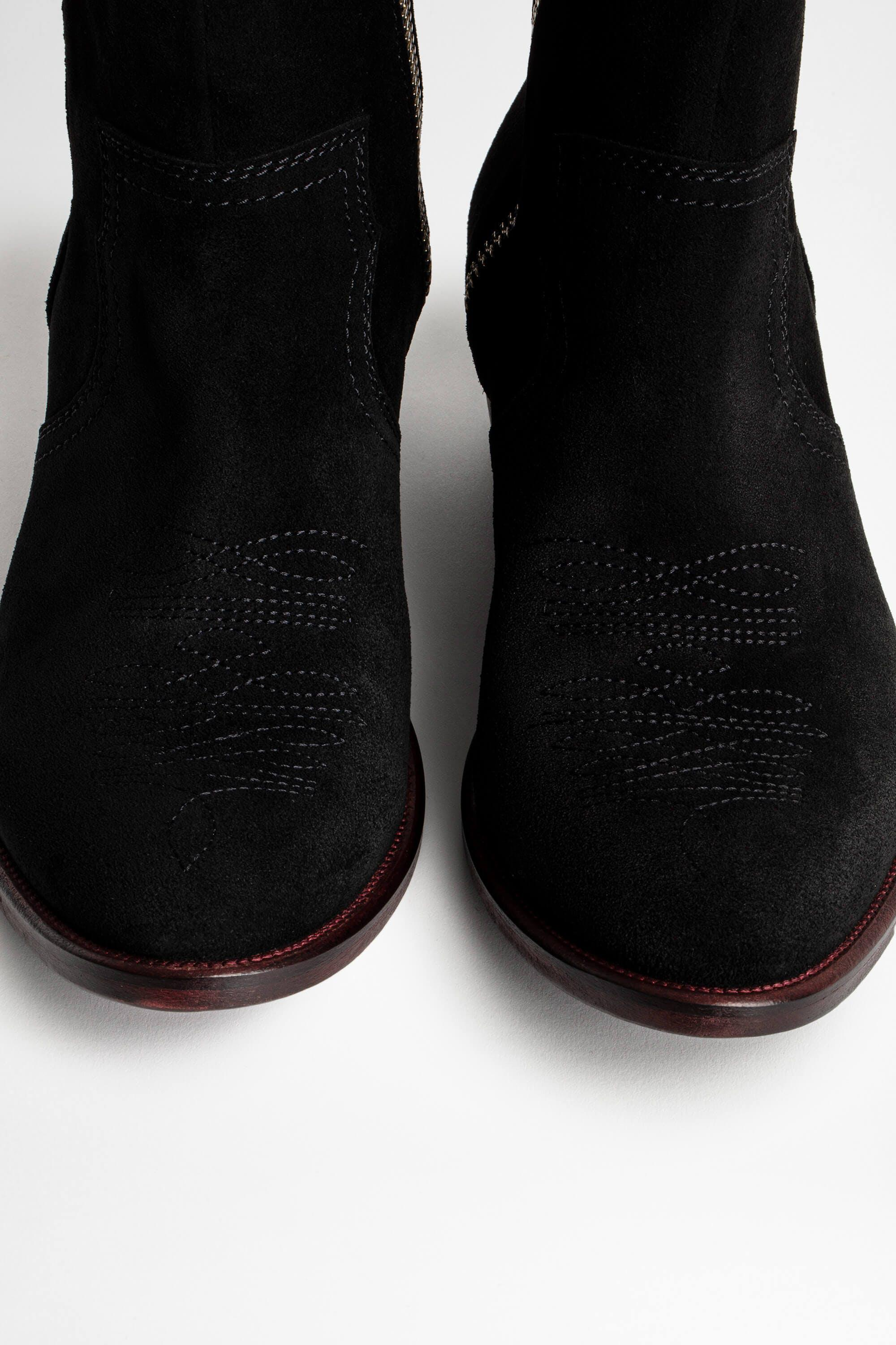 Pilar High Suede Ankle Boots 6