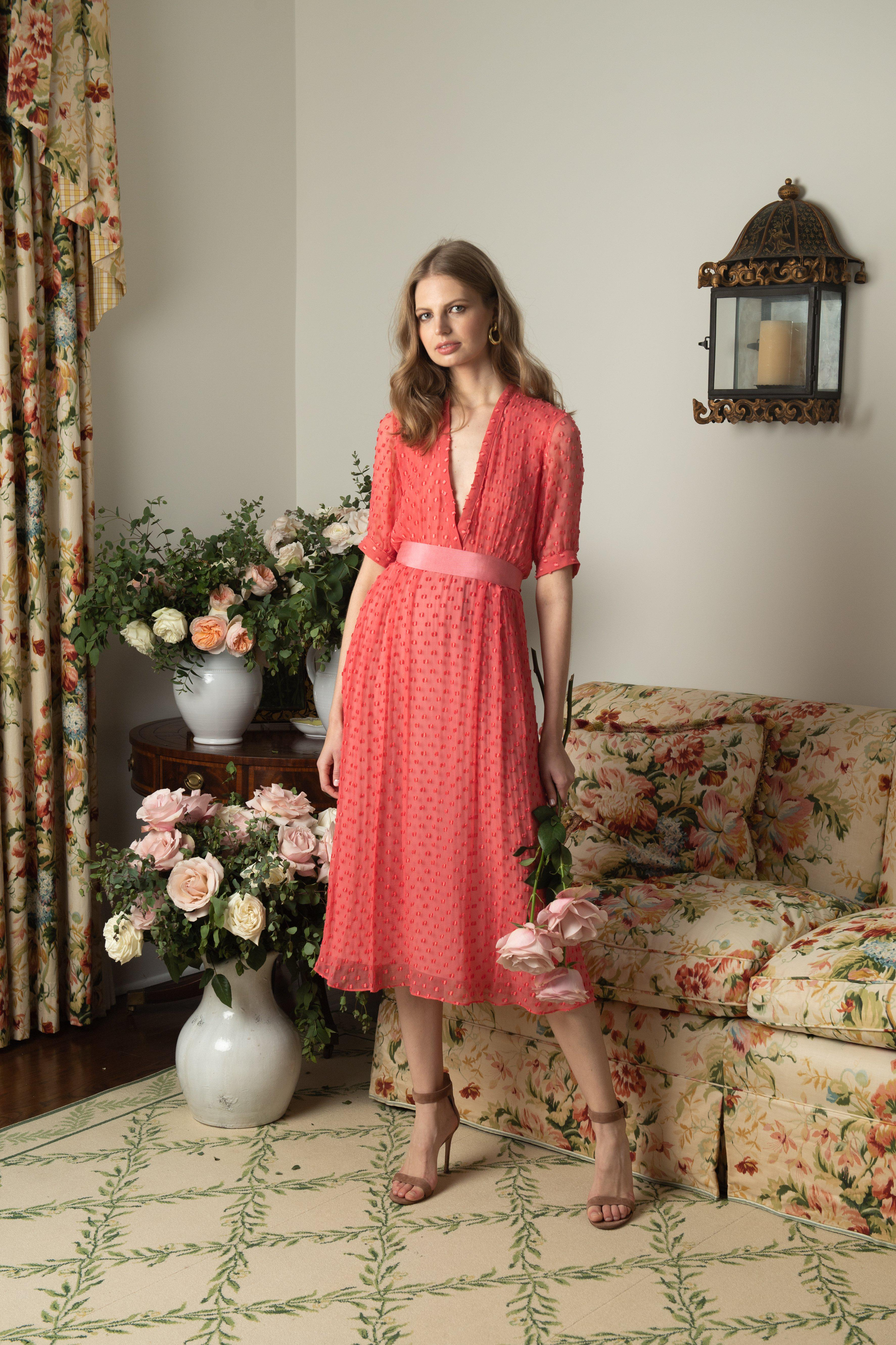 The Ivy Dress | Coral
