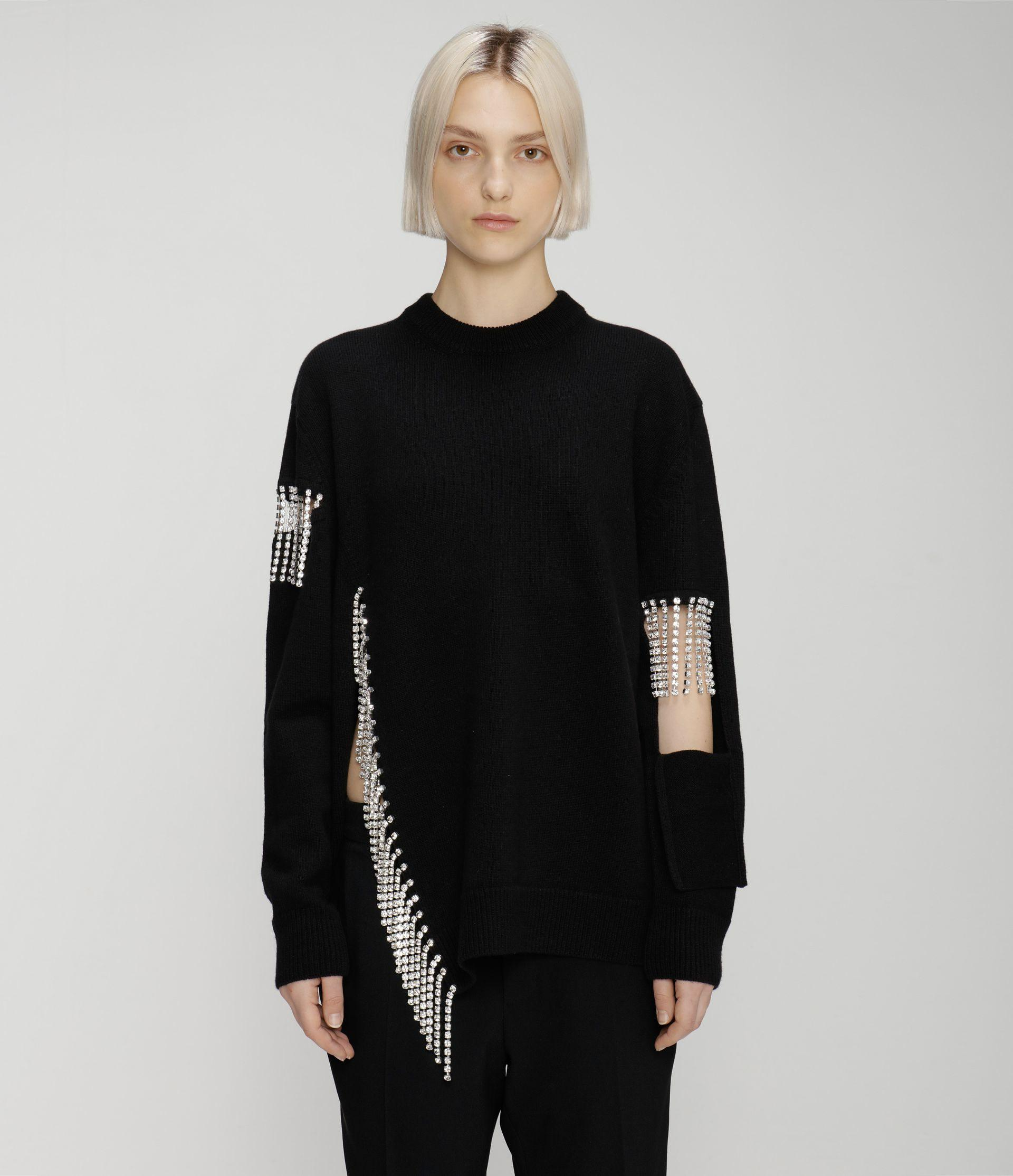 cutout cupchain knitted sweater