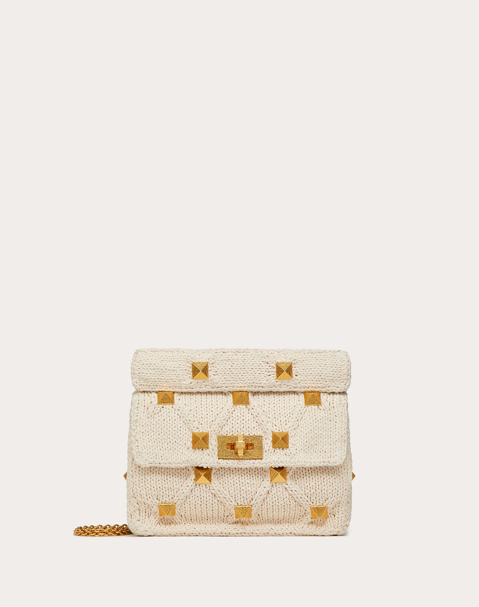 Medium Knitted Roman Stud The Shoulder Bag with Chain
