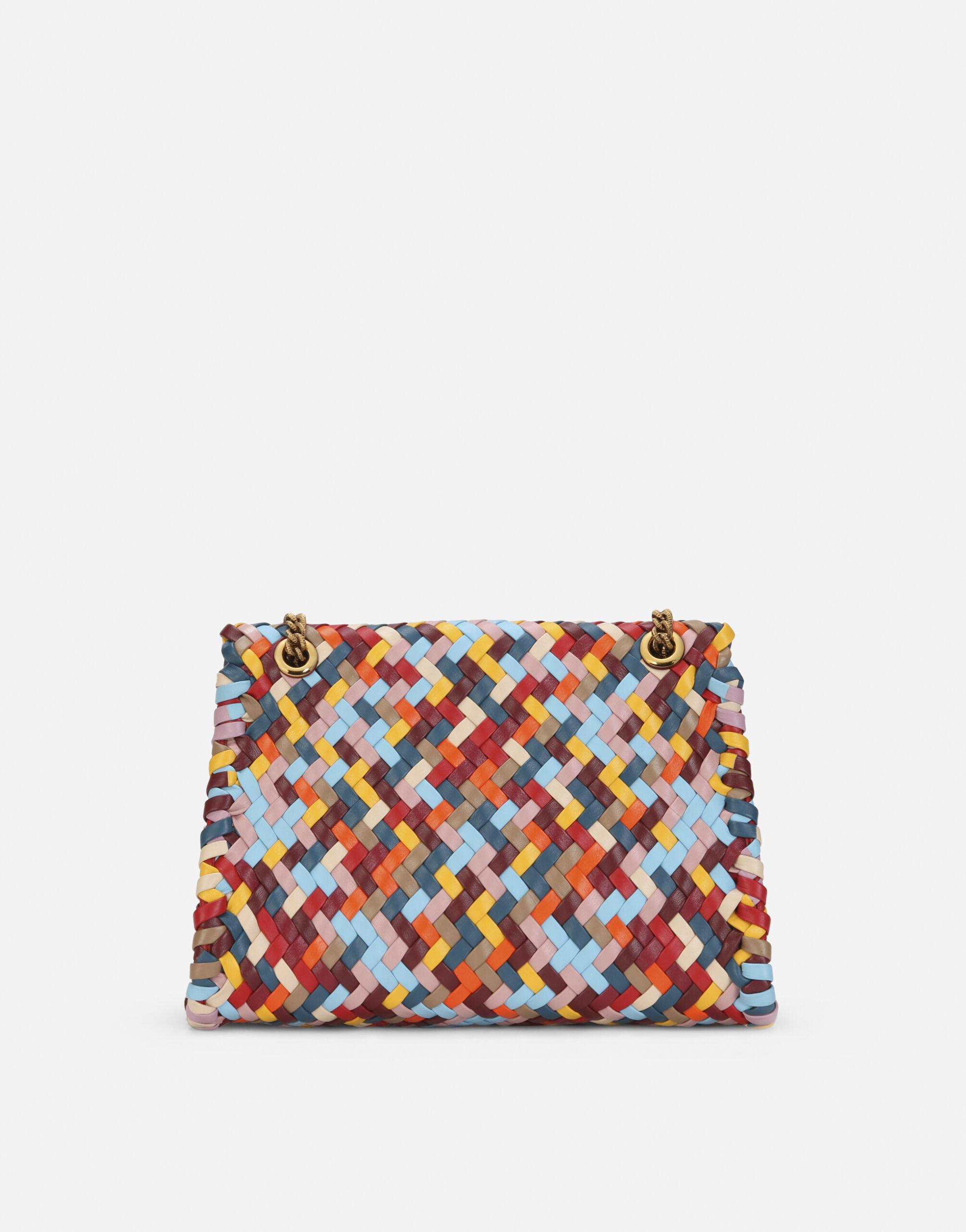 Large Devotion shoulder bag in multi-colored woven nappa leather 2